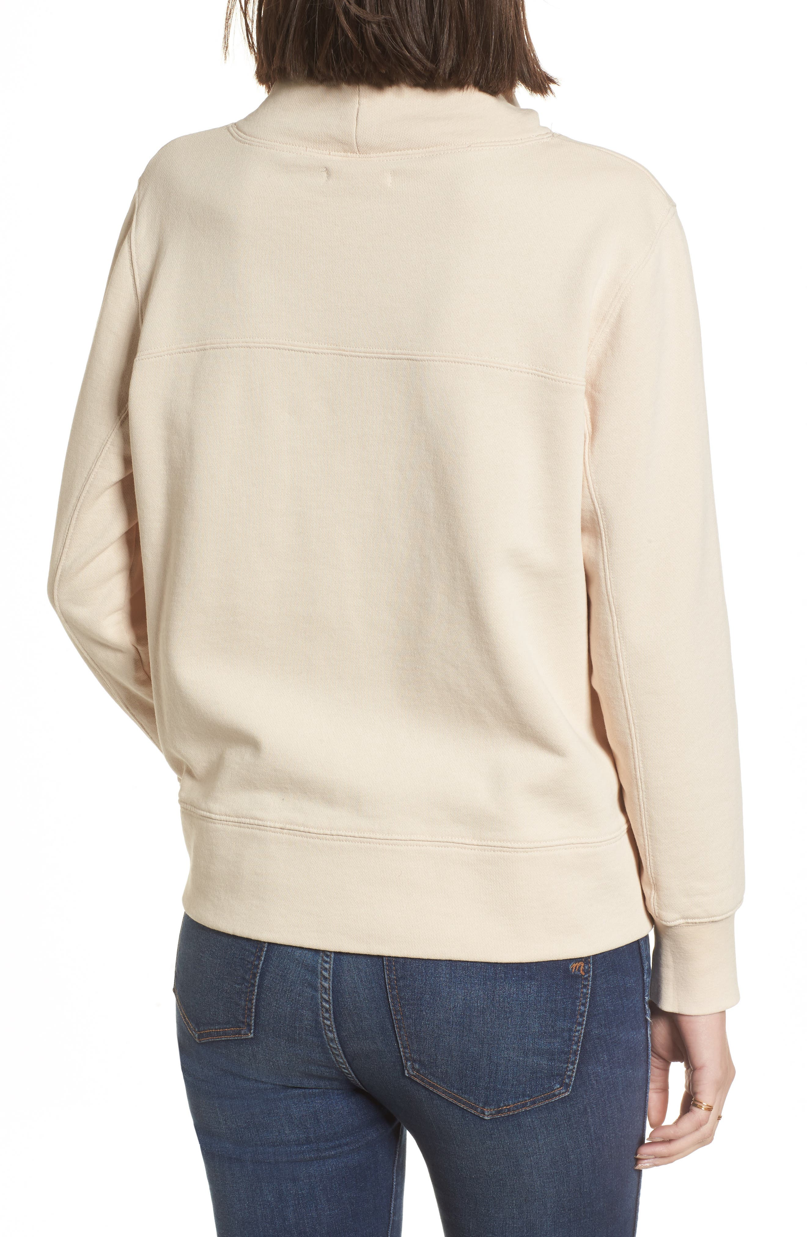 Garment Dyed Funnel Neck Sweatshirt,                             Alternate thumbnail 5, color,