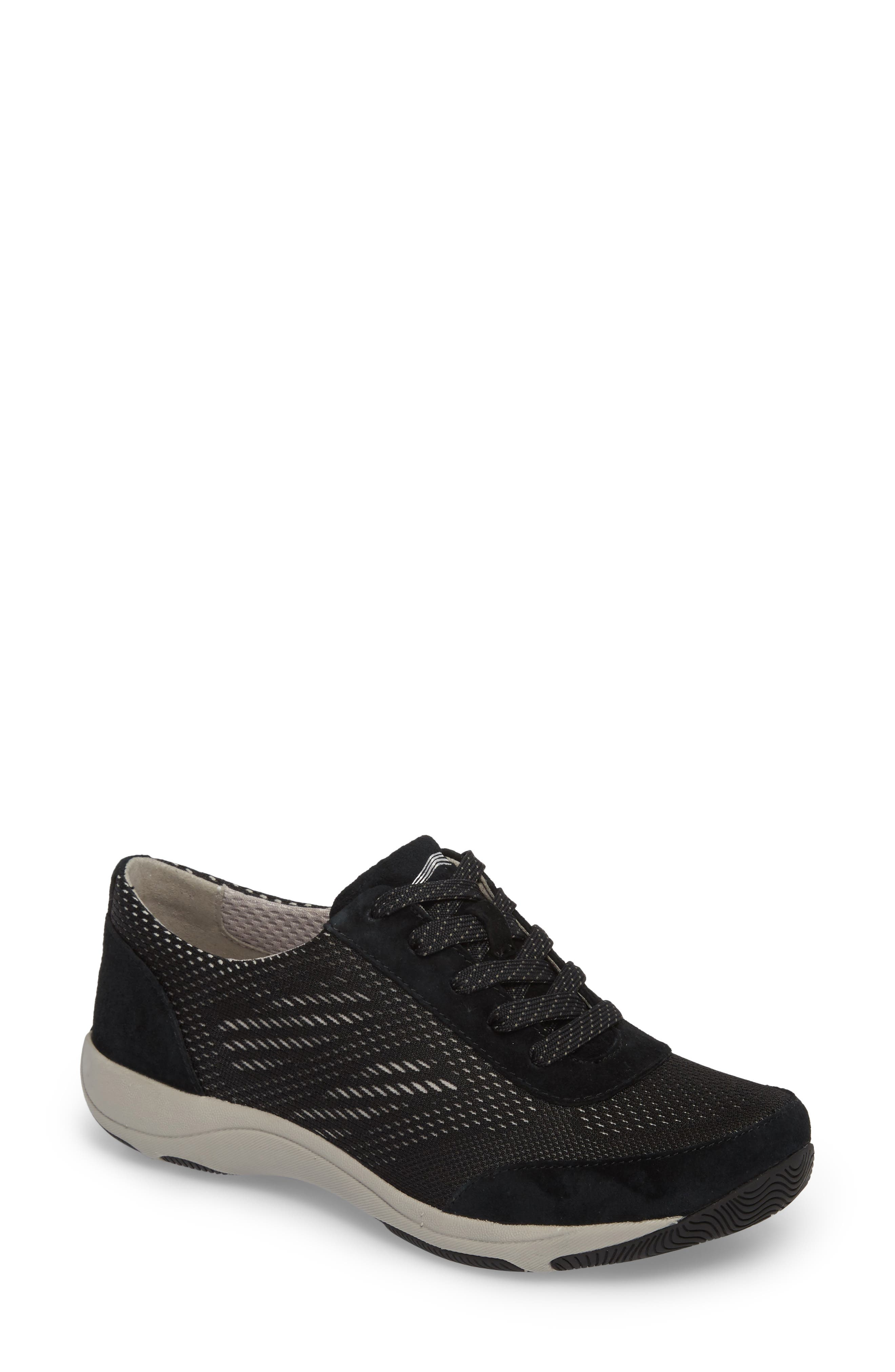 Hayes Sneaker,                             Main thumbnail 1, color,                             BLACK SUEDE
