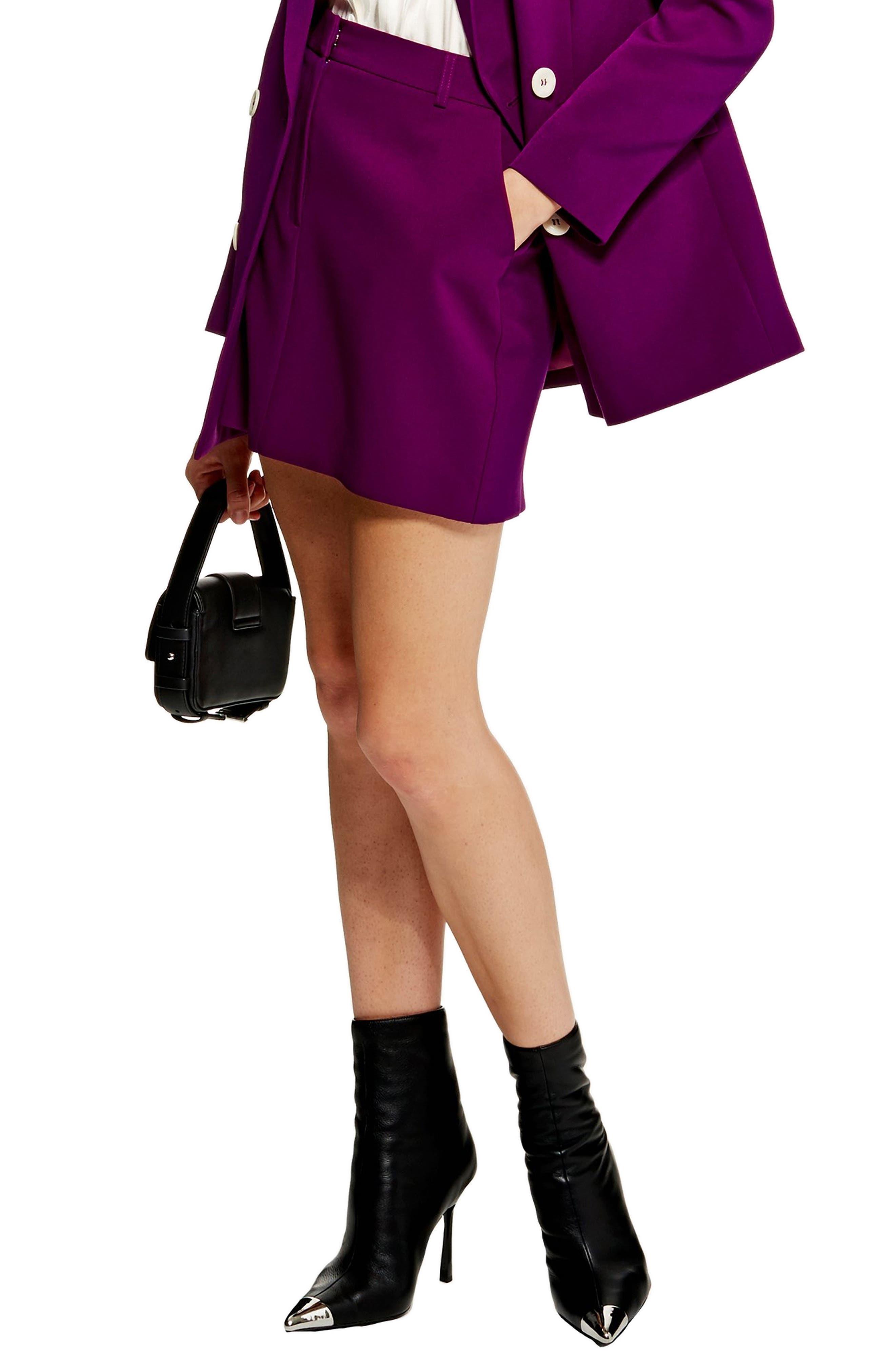 Topshop Eliza Pelmet Miniskirt, US (fits like 2-4) - Purple