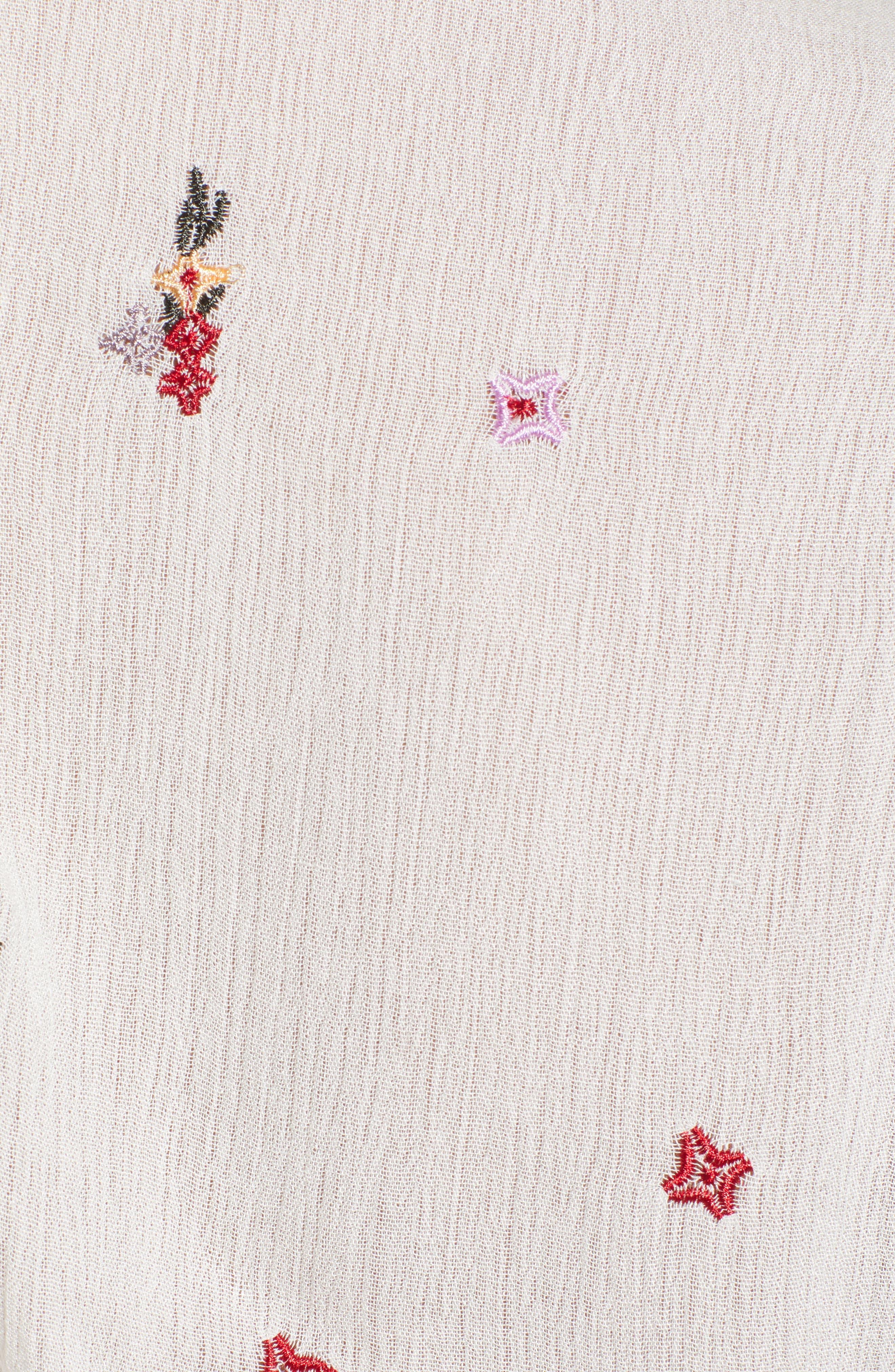 Senorita Embroidered Crop Top,                             Alternate thumbnail 5, color,                             100