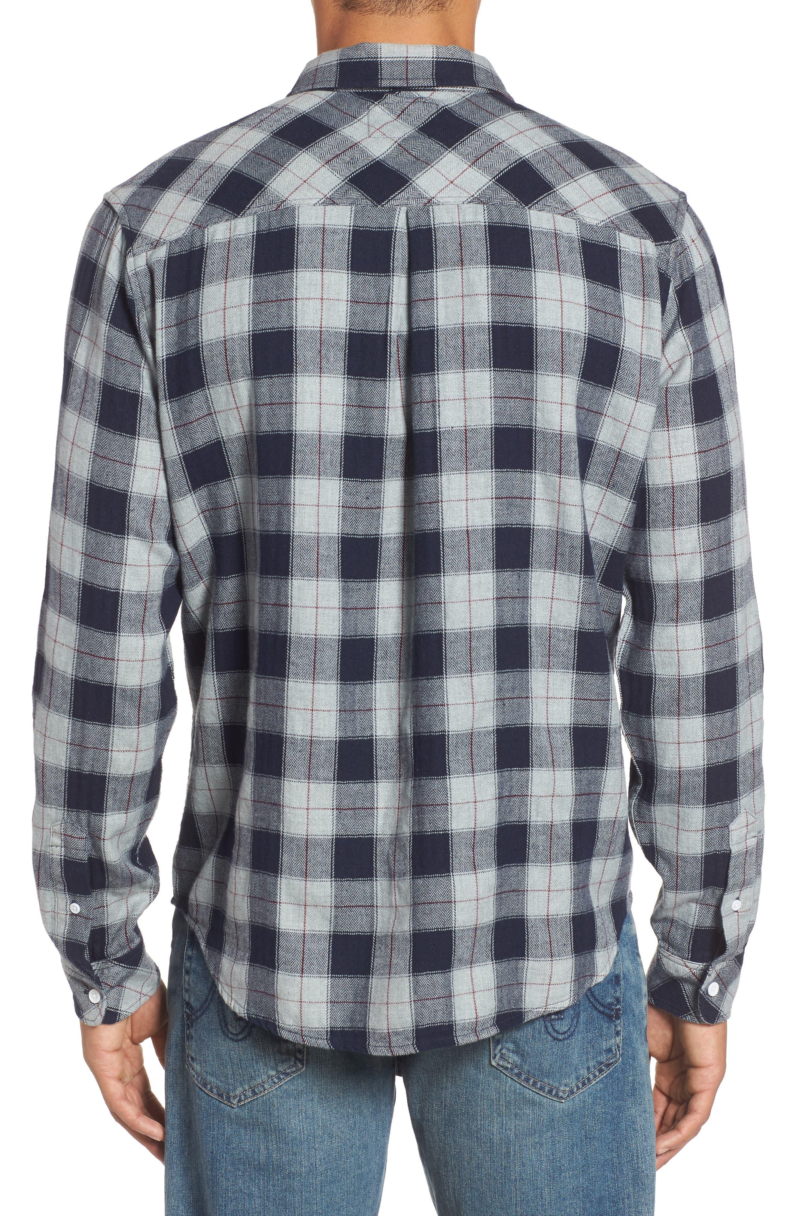 Harper Regular Fit Plaid Sport Shirt,                             Alternate thumbnail 3, color,                             071