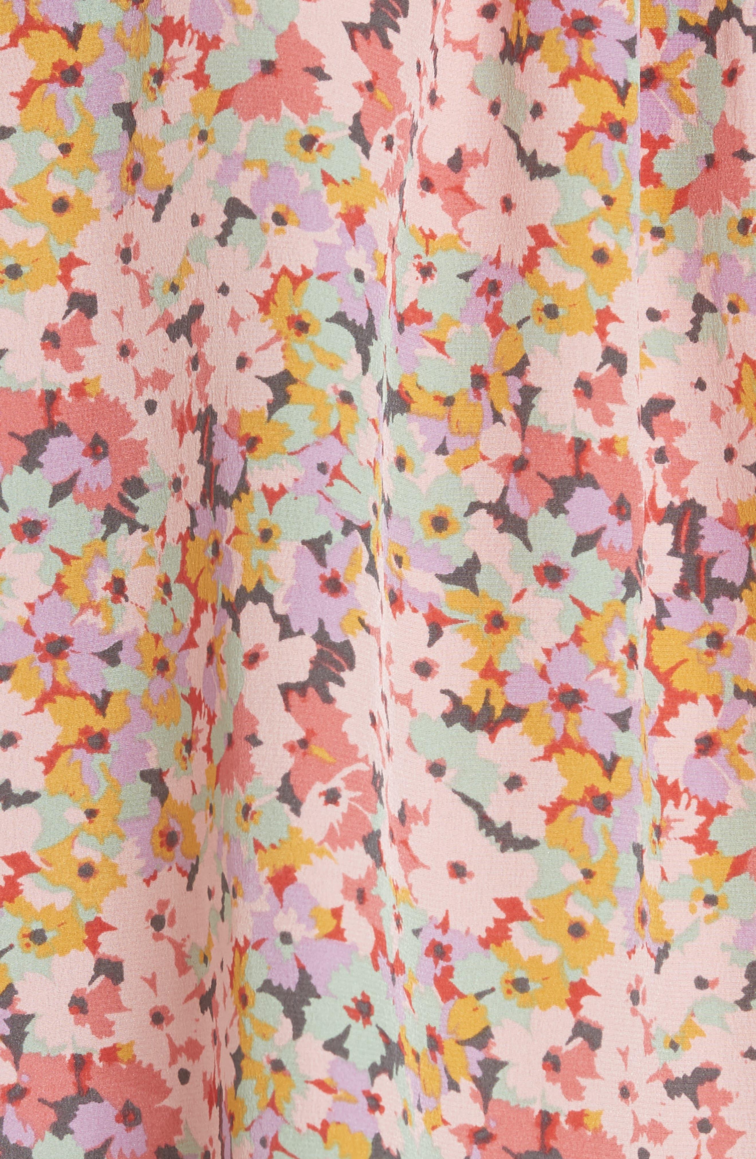Margo Floral Sleeveless Silk Top,                             Alternate thumbnail 5, color,                             686