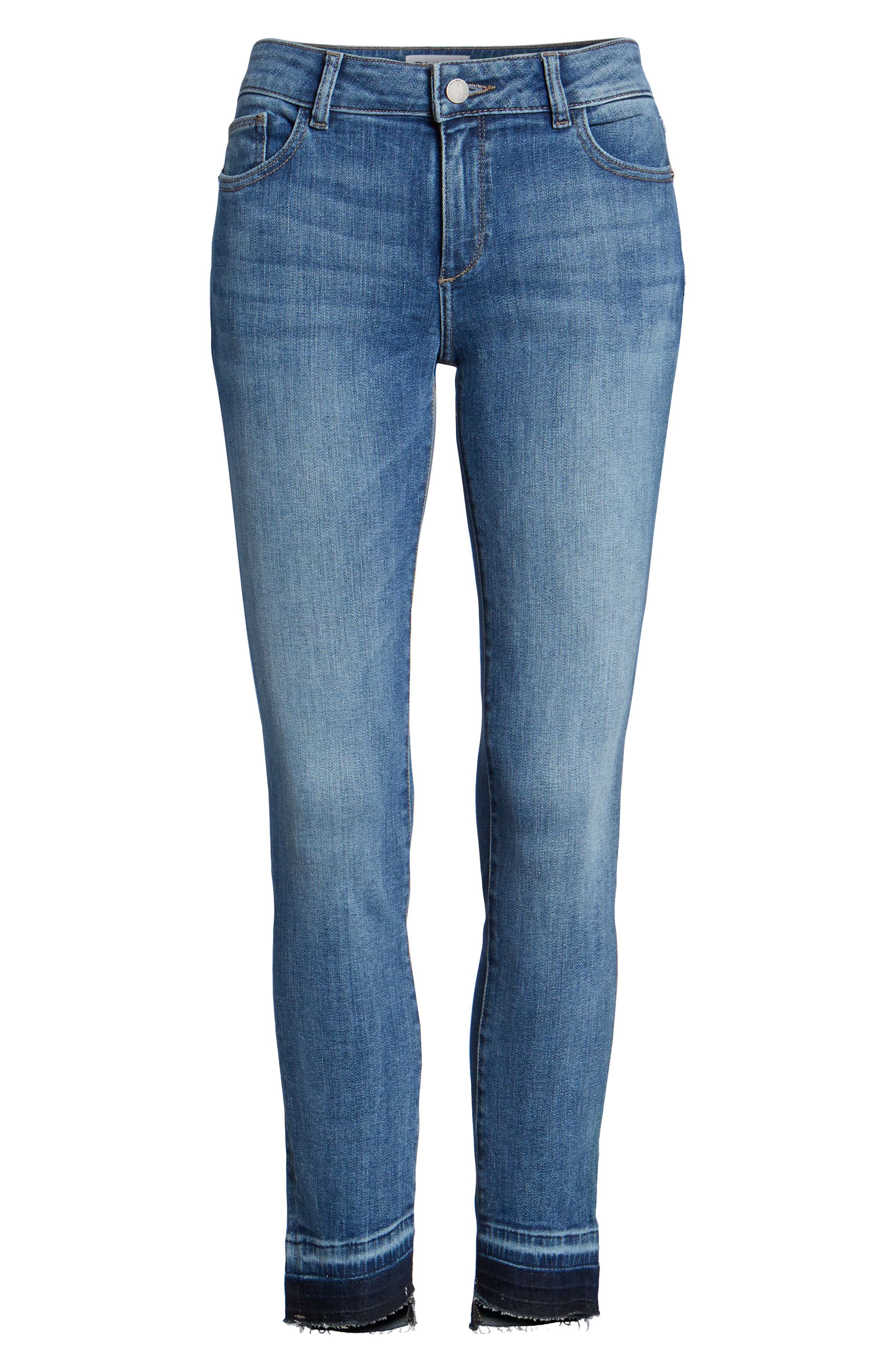 Margaux Instasculpt Ankle Skinny Jeans,                             Alternate thumbnail 7, color,                             COSTA MESA