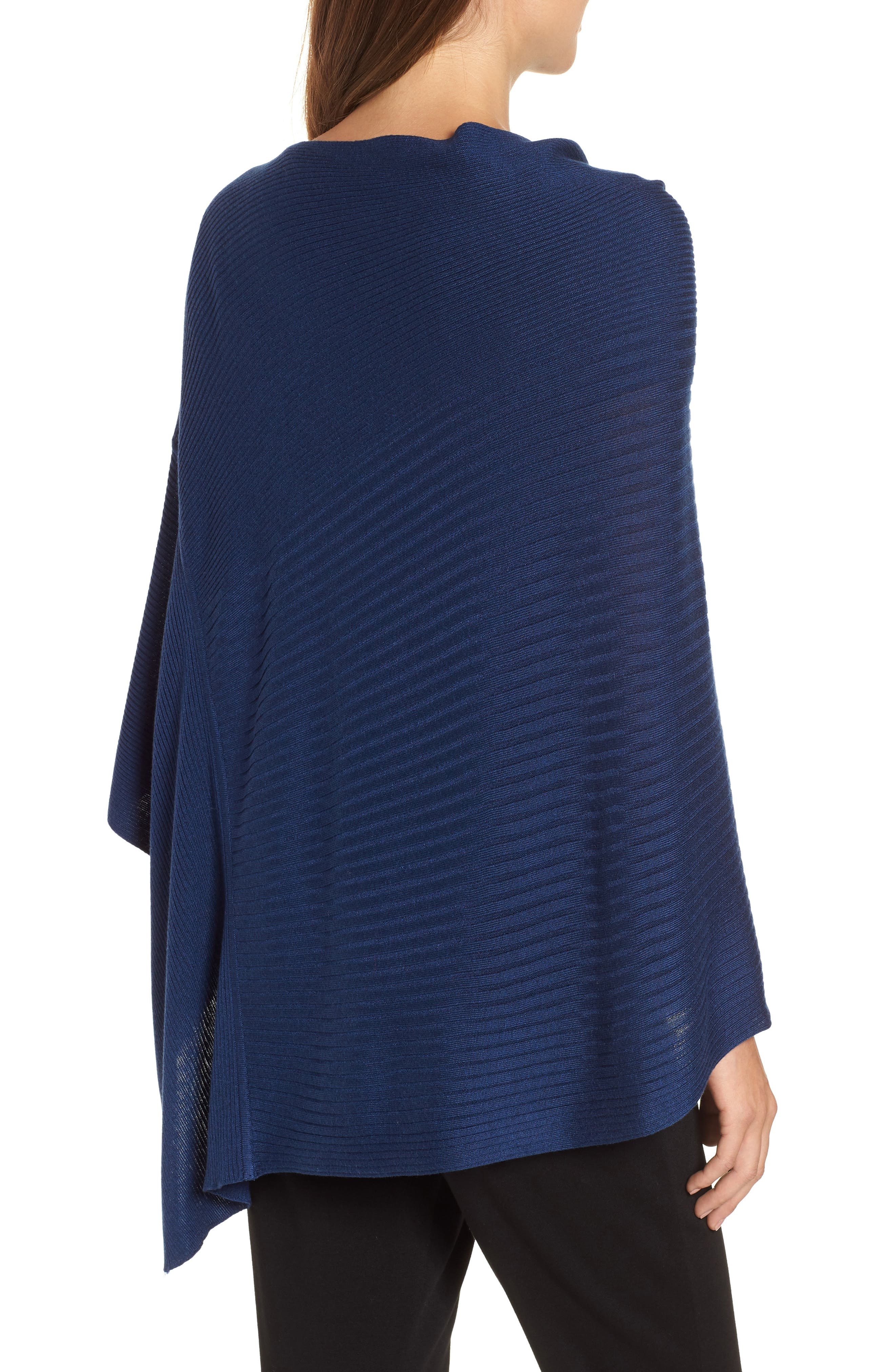 Bateau Neck Sweater Poncho,                             Alternate thumbnail 5, color,