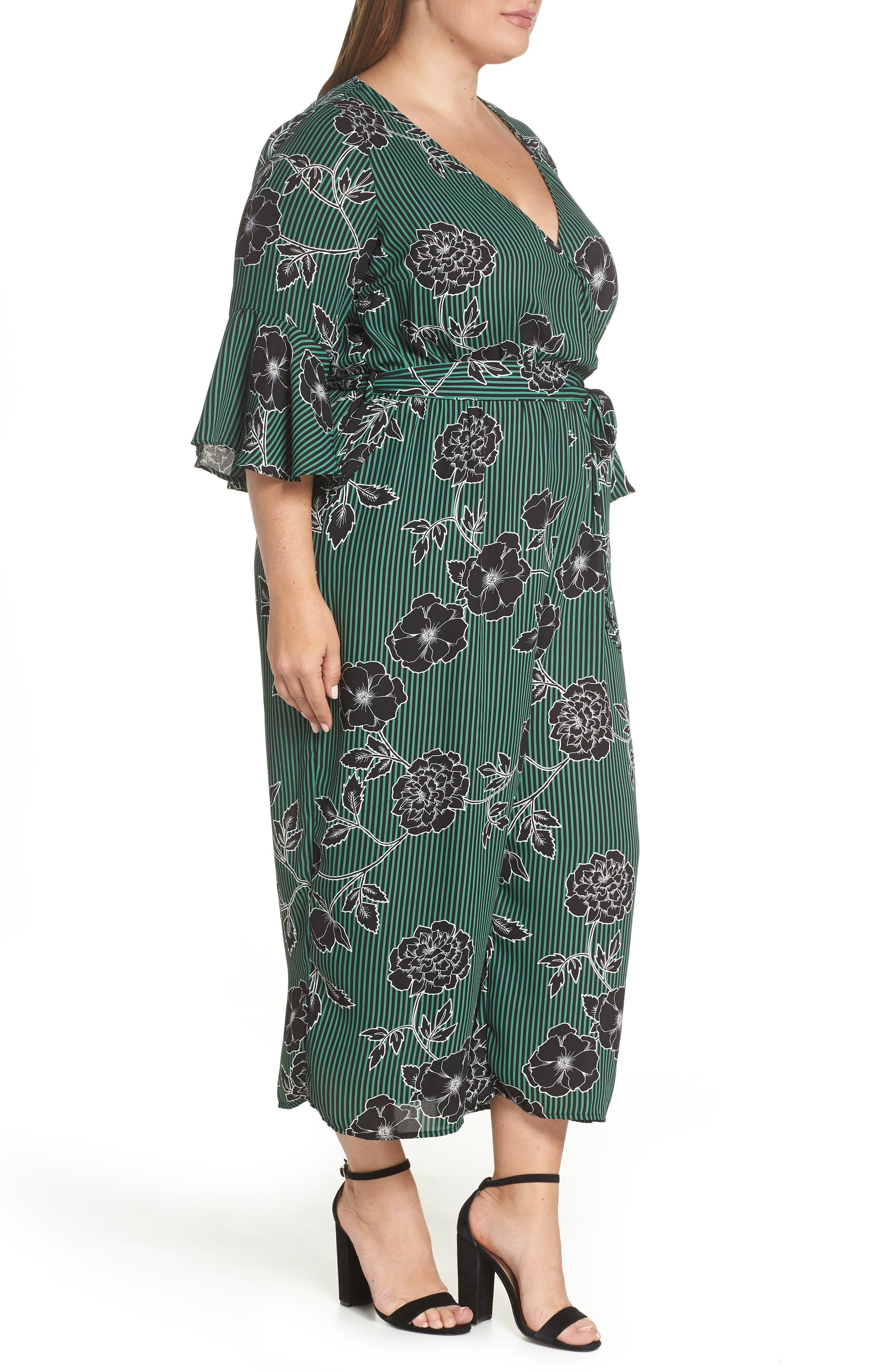 Floral Print Jumpsuit,                             Alternate thumbnail 4, color,                             VARSITY FLORAL
