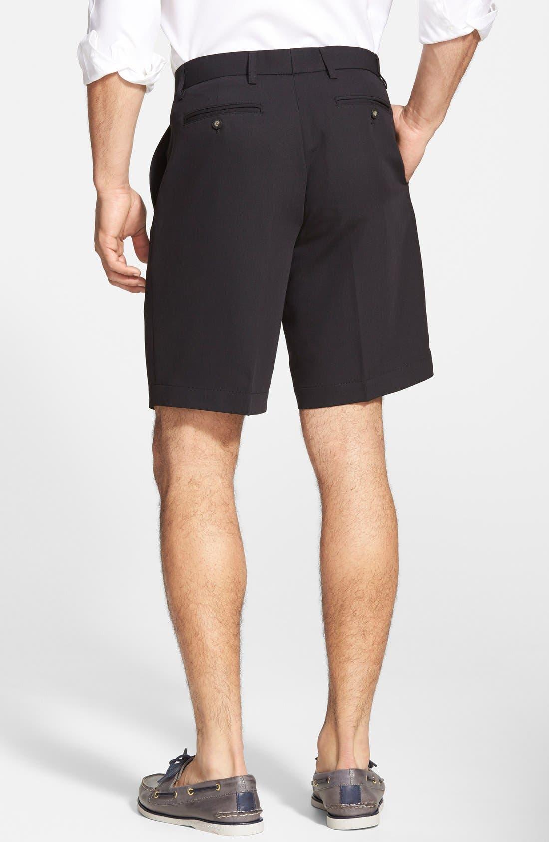 Microfiber Twill Shorts,                             Alternate thumbnail 2, color,                             001