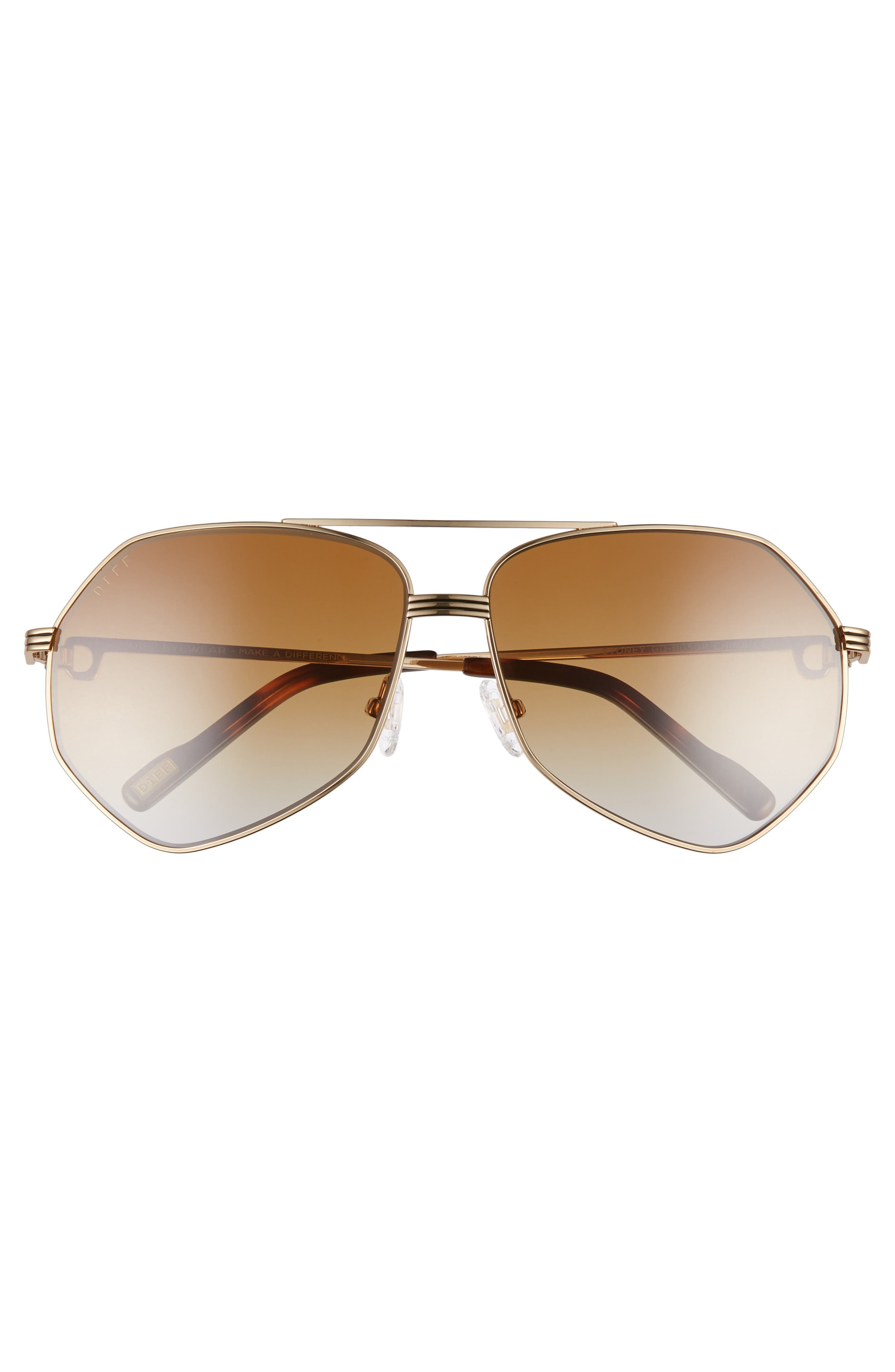 Sydney Sunglasses,                             Alternate thumbnail 3, color,                             GOLD/ BROWN