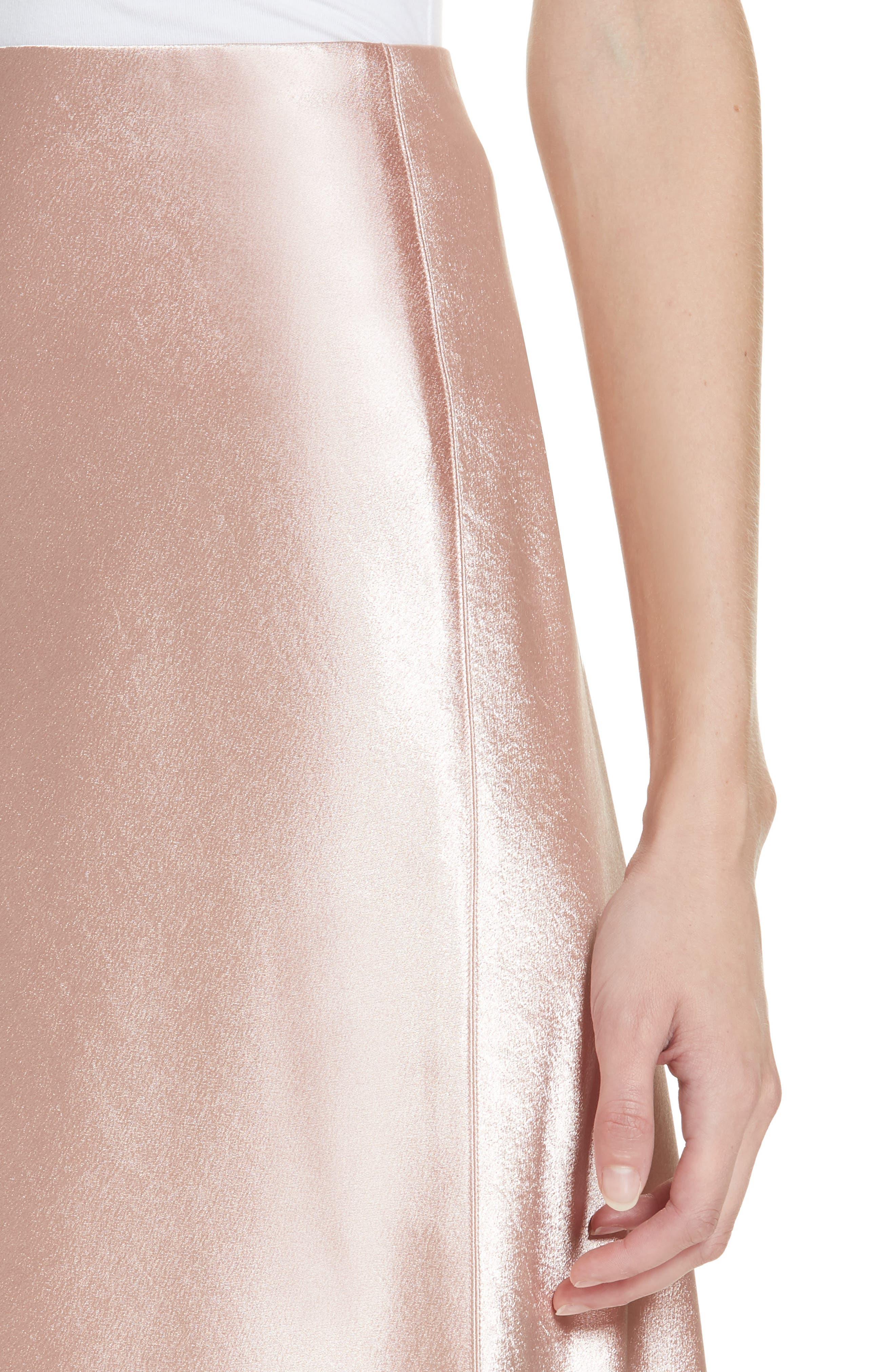 Satin Slip Skirt,                             Alternate thumbnail 4, color,                             BLUSH