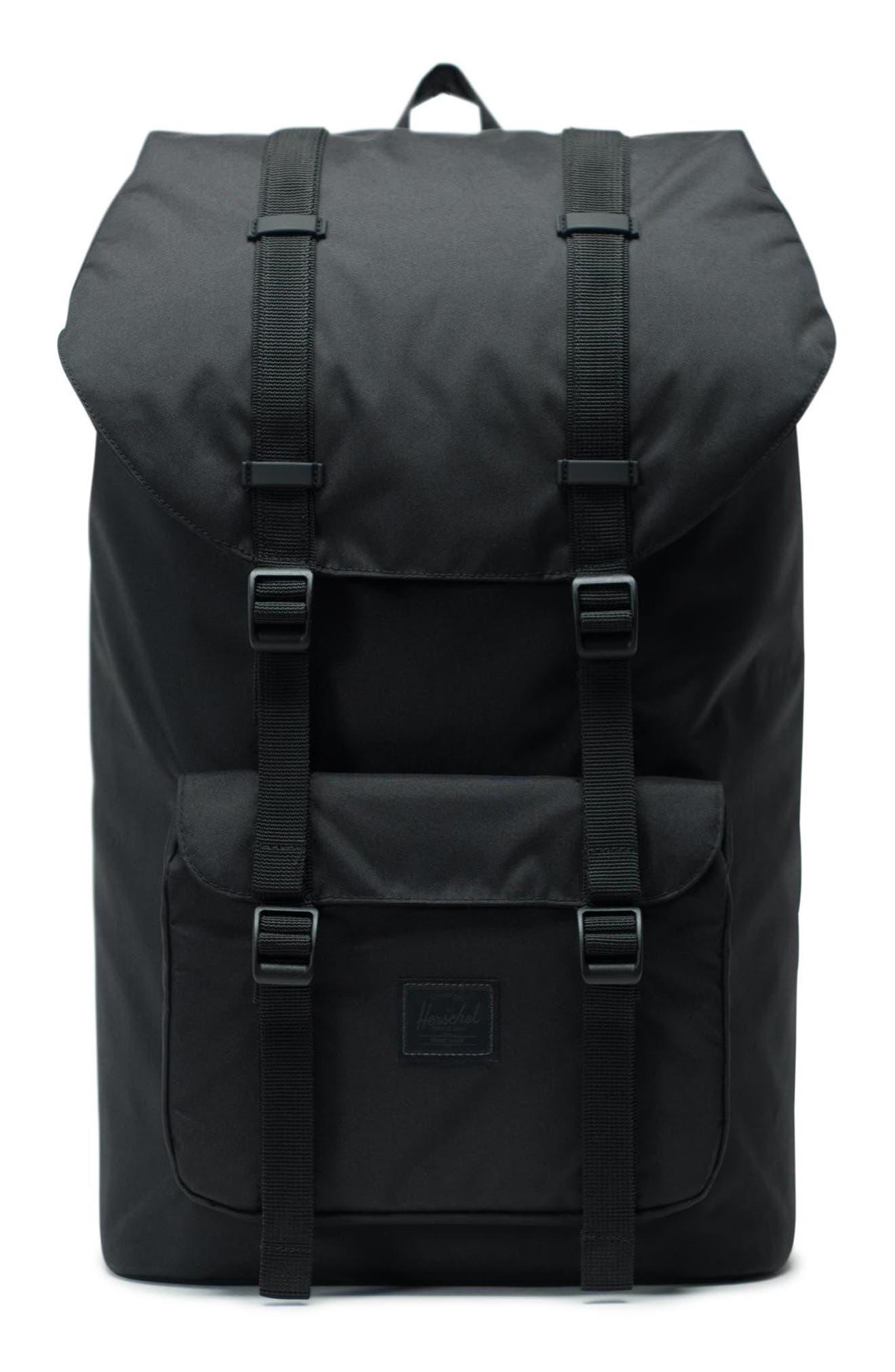 Little America Light Backpack, Main, color, BLACK