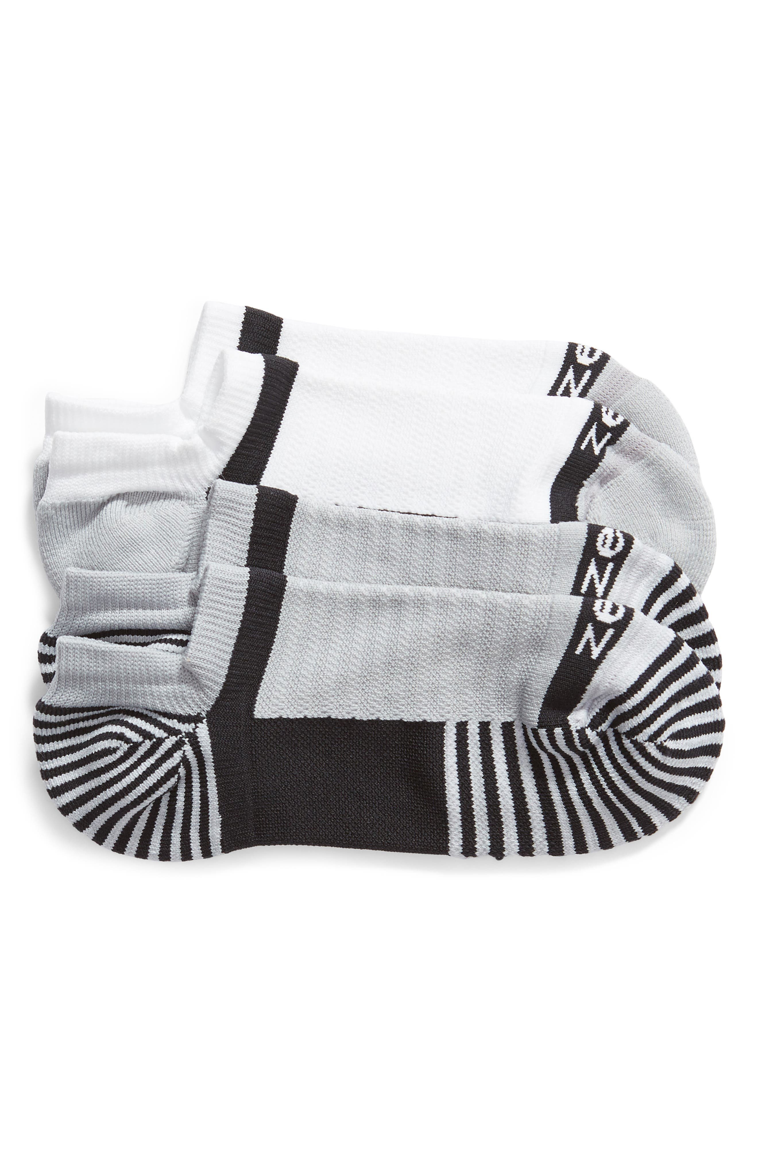 ZELLA,                             Two-Pack Training Socks,                             Main thumbnail 1, color,                             BLACK