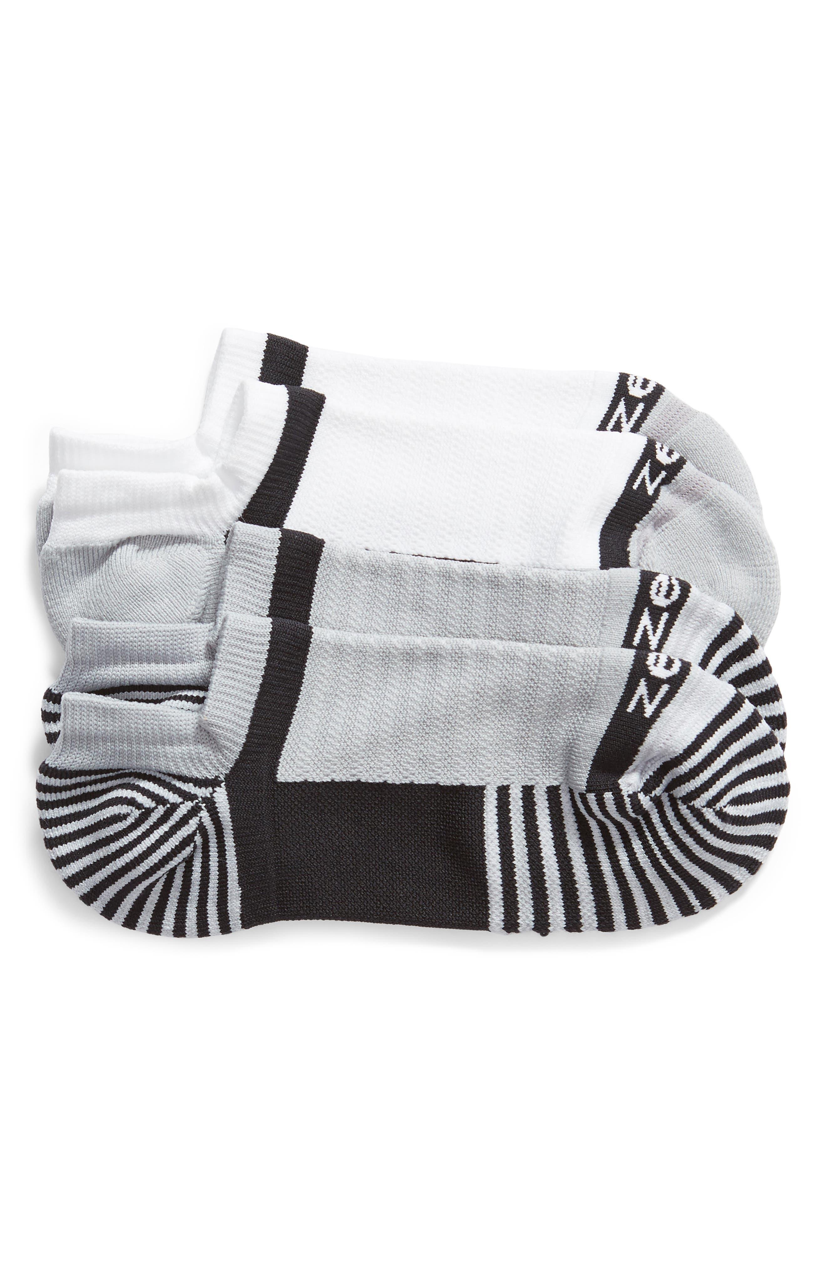 ZELLA Two-Pack Training Socks, Main, color, BLACK
