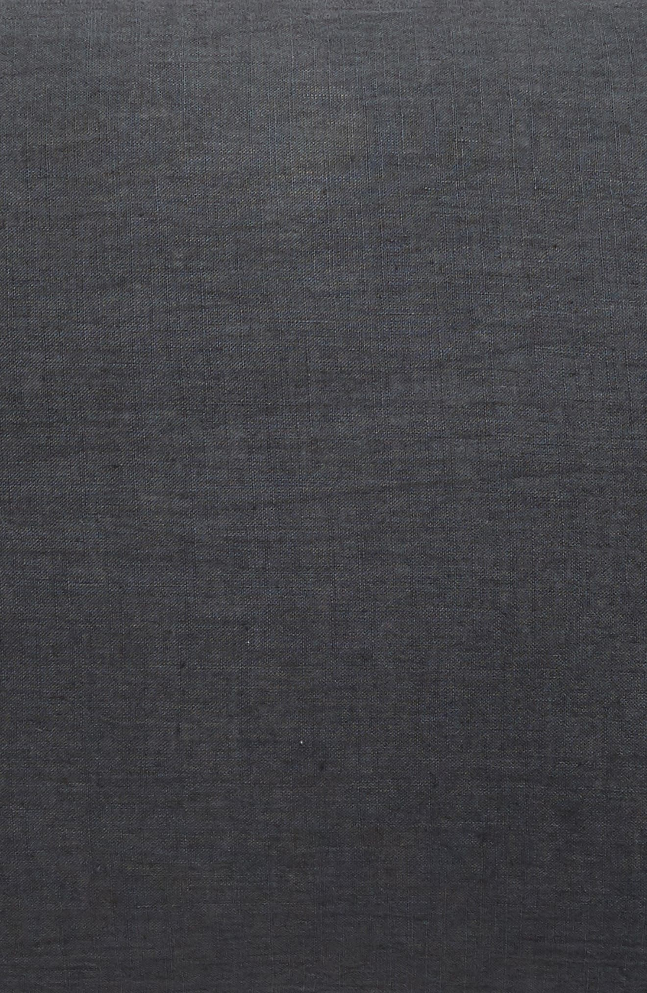 TREASURE & BOND,                             Relaxed Cotton & Linen Sham,                             Alternate thumbnail 3, color,                             GREY ONYX