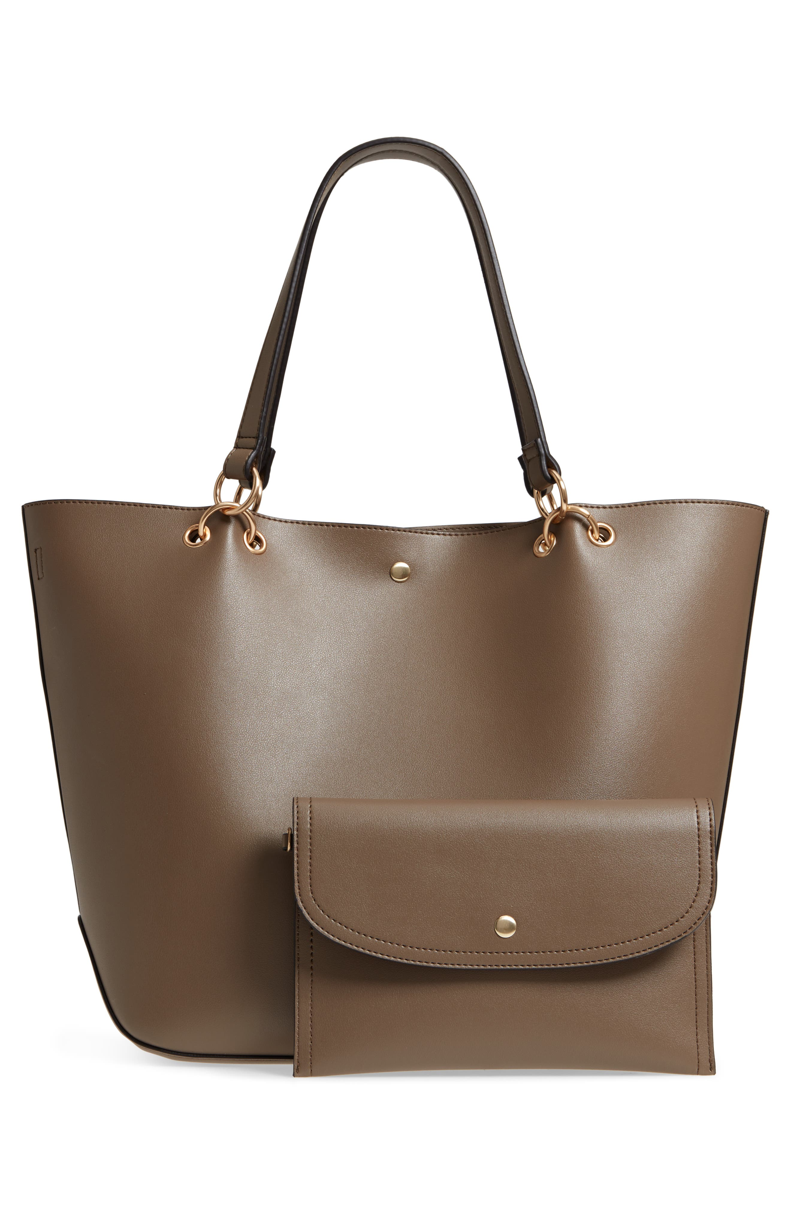 Fronto Faux Leather Tote,                             Alternate thumbnail 3, color,                             281