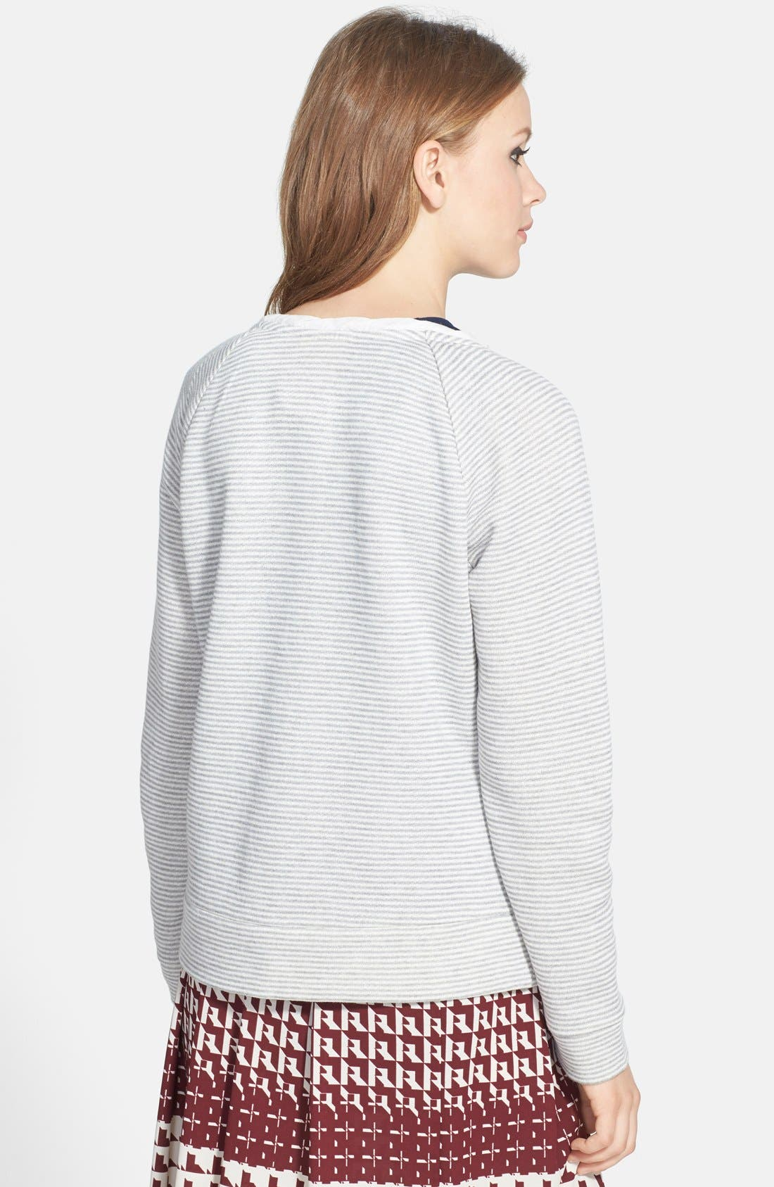 Stripe Raglan Sleeve Sweatshirt,                             Alternate thumbnail 3, color,                             020