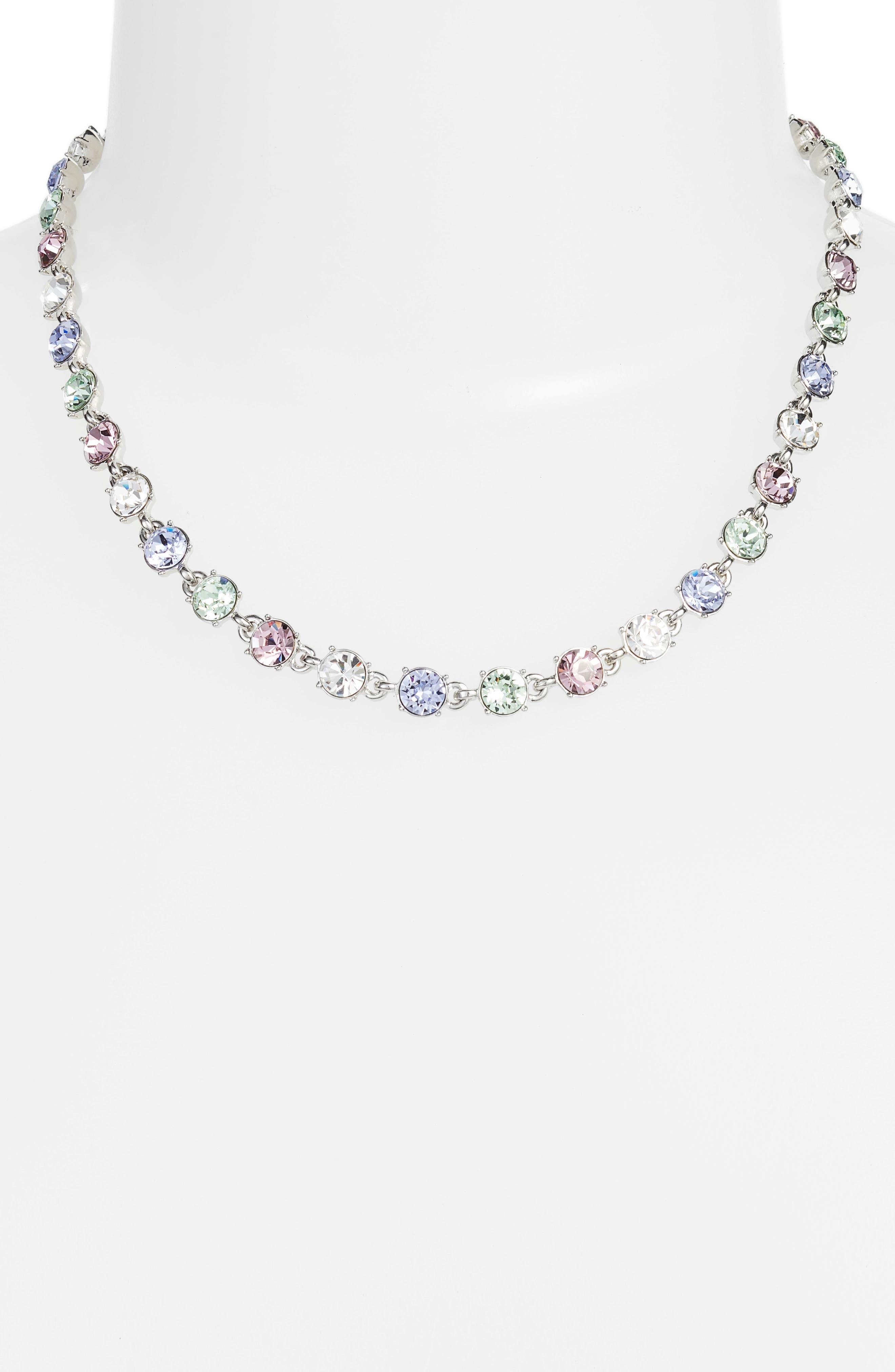 Swarovski Crystal Collar Necklace,                             Alternate thumbnail 2, color,                             040