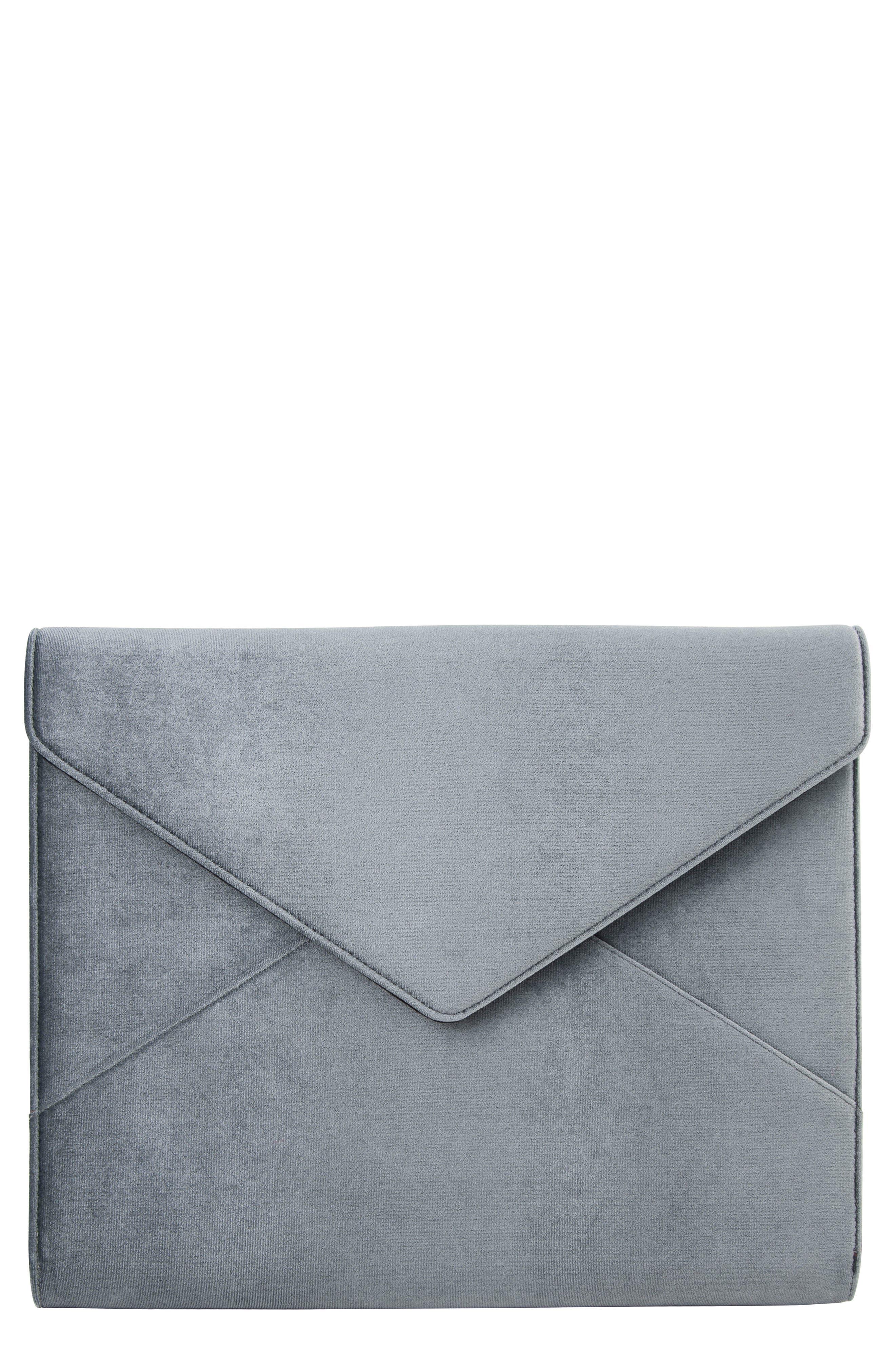 Powder Velvet Laptop Clutch,                         Main,                         color, BLUE
