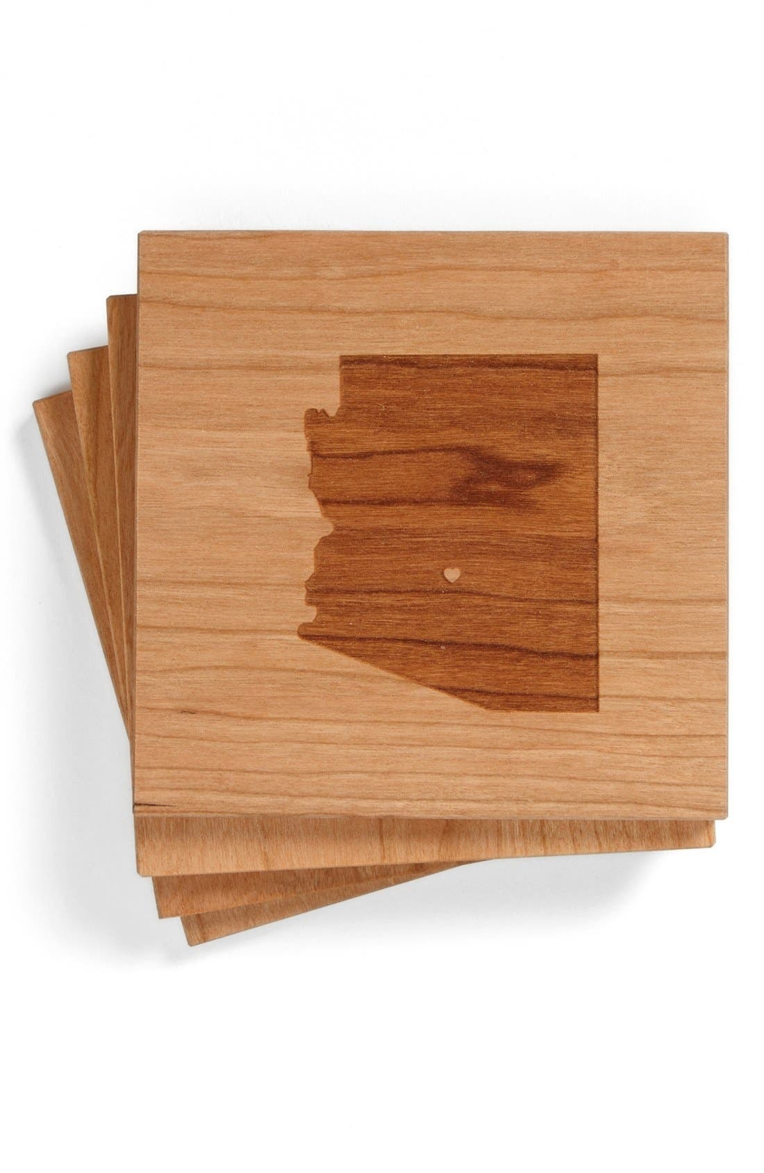 'State Silhouette' Coasters,                             Main thumbnail 9, color,