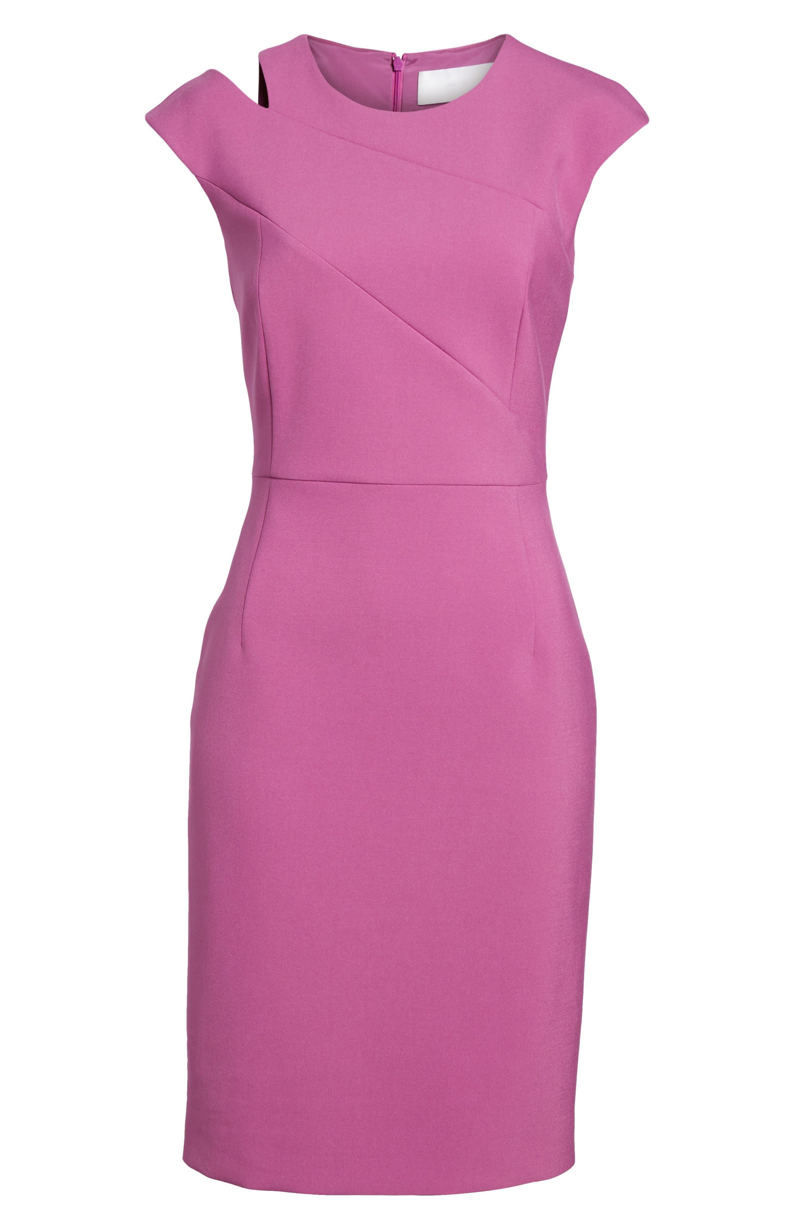 Danouk Ponte Sheath Dress,                             Alternate thumbnail 6, color,                             511