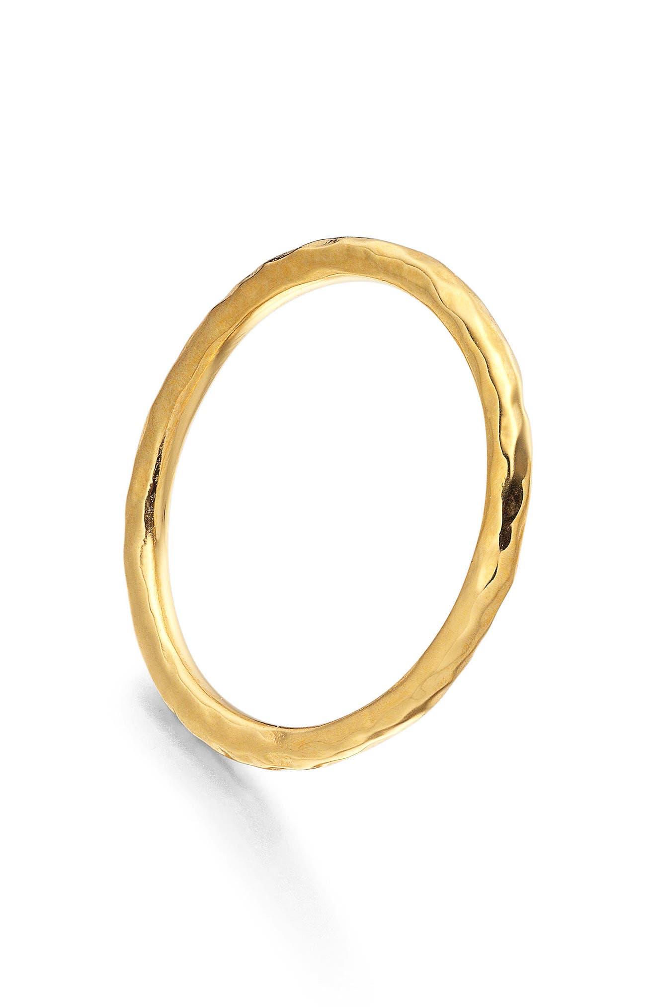 Siren Hammered Ring,                             Alternate thumbnail 3, color,                             GOLD