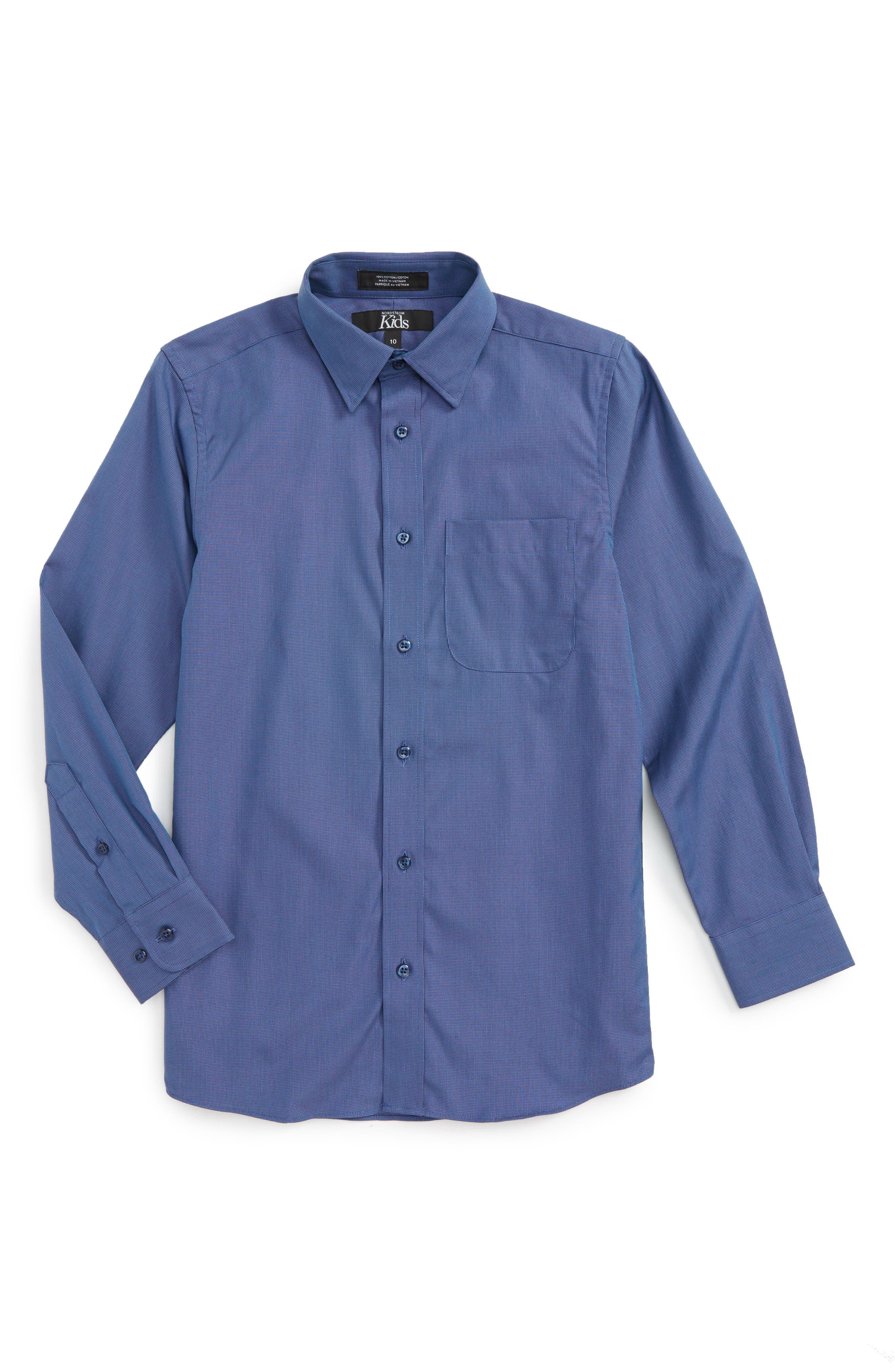 Patriot Cotton Poplin Dress Shirt,                         Main,                         color, 410