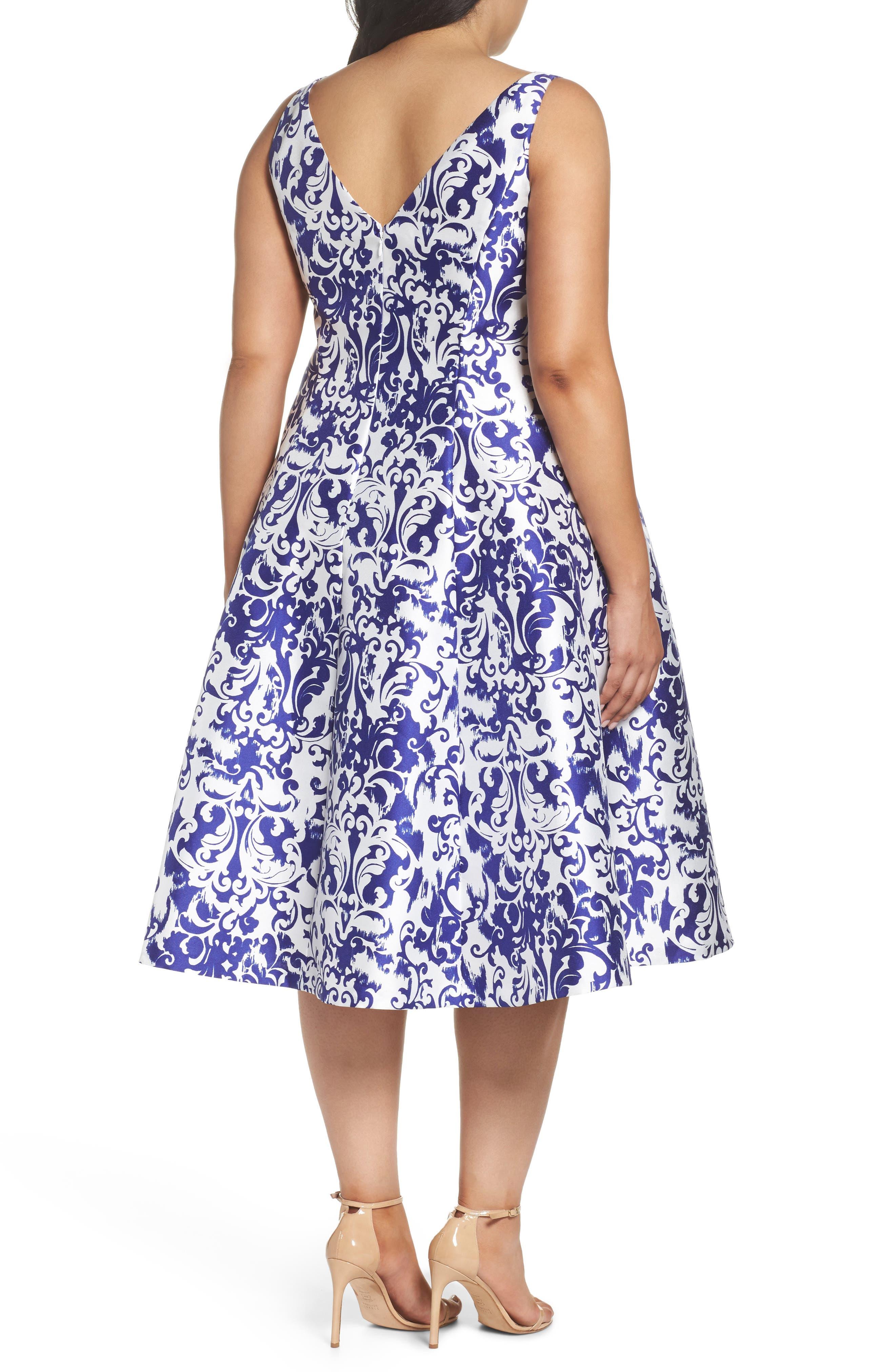 Fit & Flare Dress,                             Alternate thumbnail 2, color,                             480