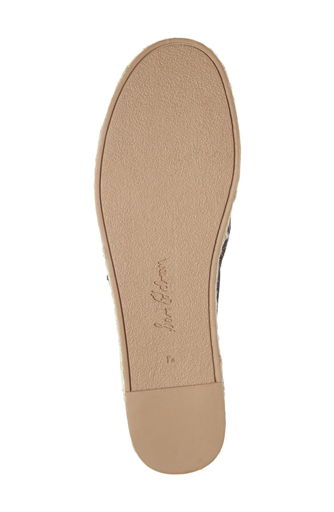 'Carrin' Espadrille Flat,                             Alternate thumbnail 4, color,                             001