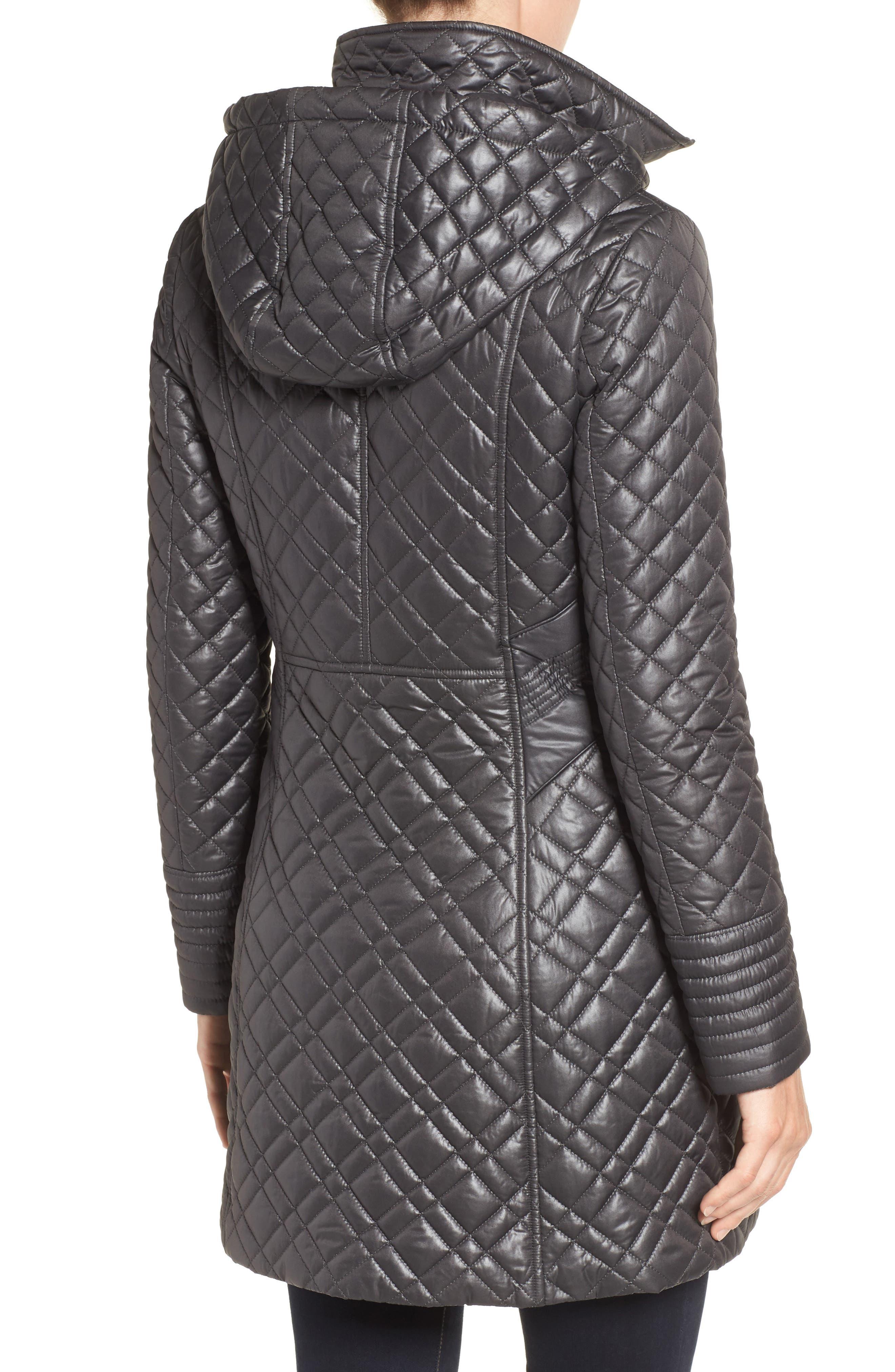 Tassel Detail Hooded Mix Quilt Coat,                             Main thumbnail 1, color,                             031