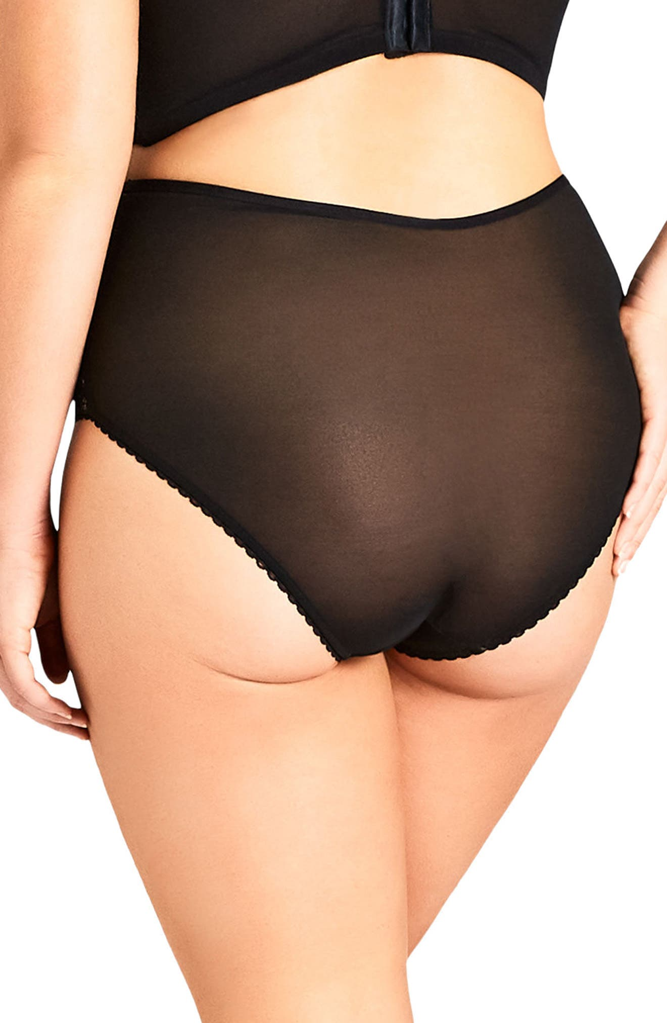 CITY CHIC,                             Ginger High Waist Briefs,                             Alternate thumbnail 2, color,                             001