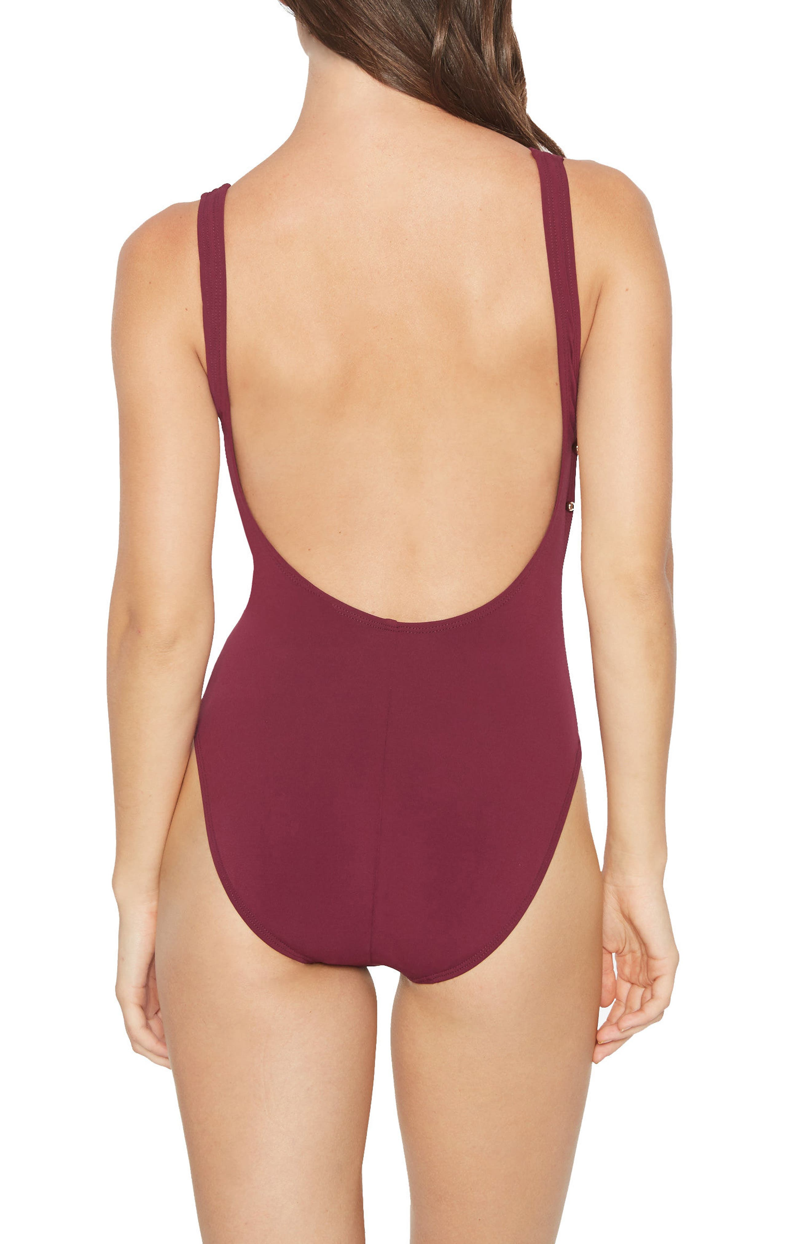 Luca Scoop Back One-Piece Swimsuit,                             Alternate thumbnail 2, color,