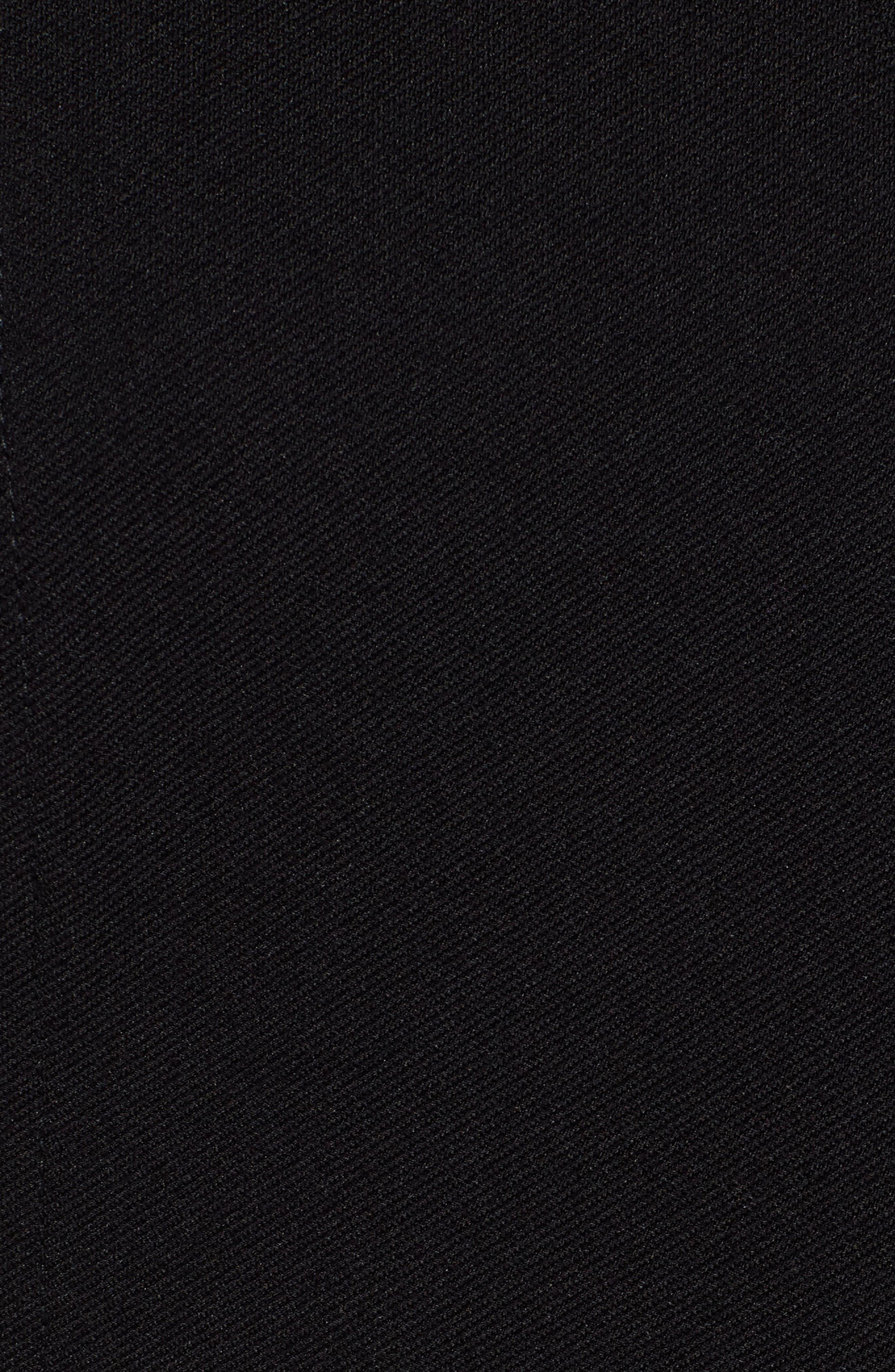 Deazema Twill Jersey Dress,                             Alternate thumbnail 5, color,                             001