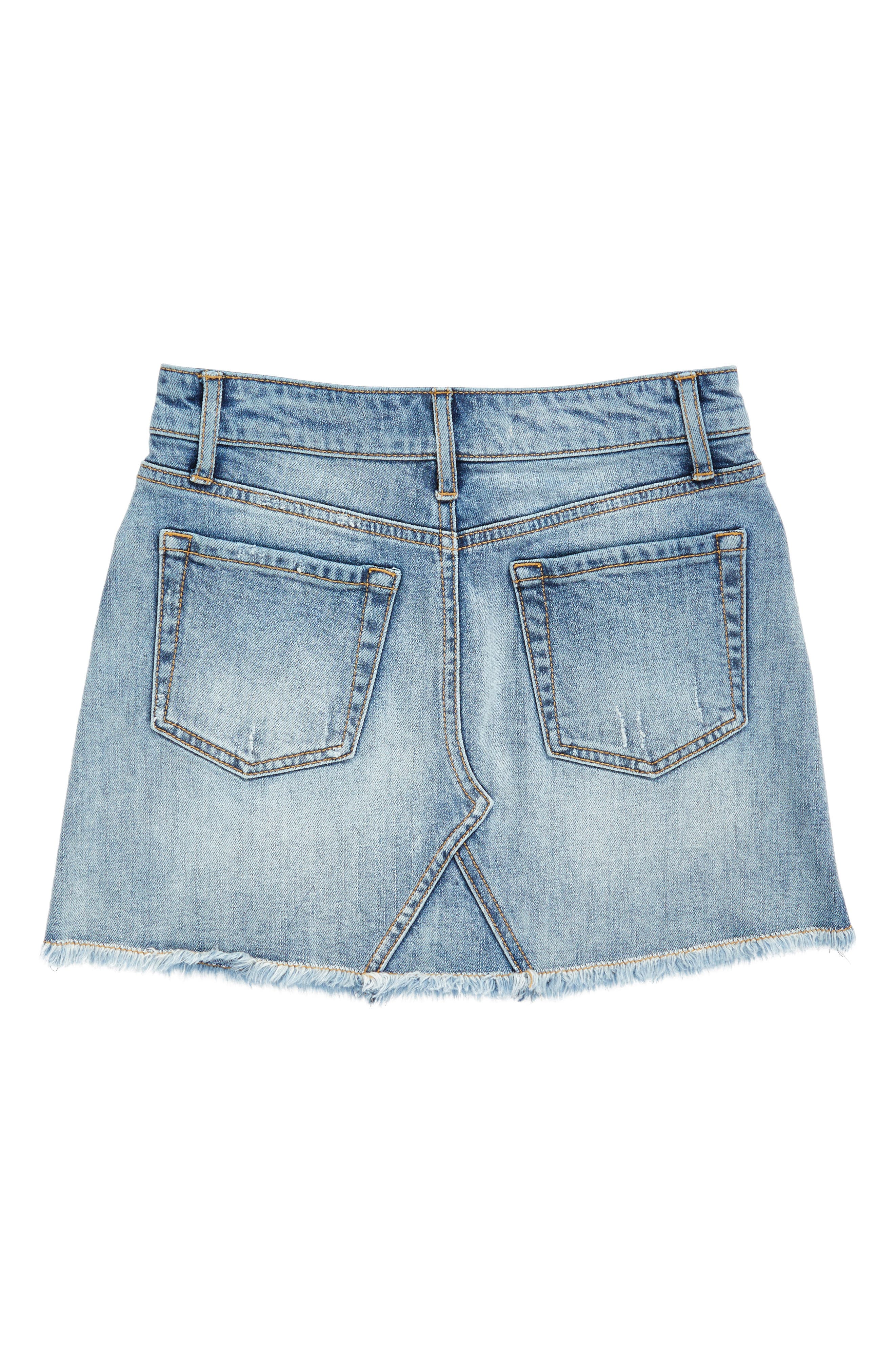 Cutoff Denim Skirt,                             Alternate thumbnail 2, color,                             420