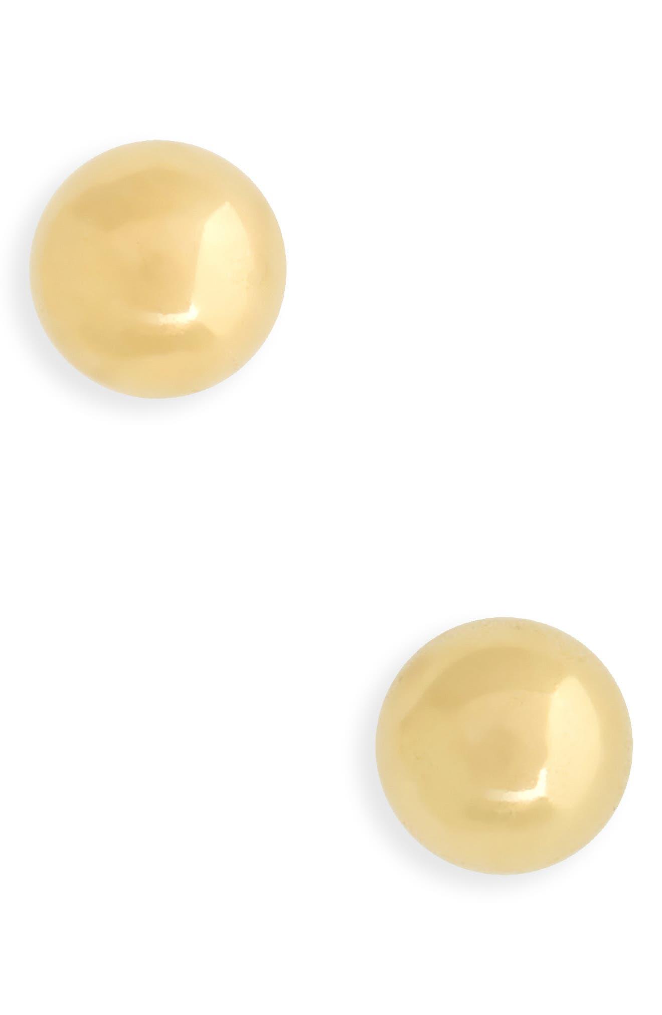 Kardee Kids 14k Gold Ball Earrings,                             Main thumbnail 1, color,                             GOLD