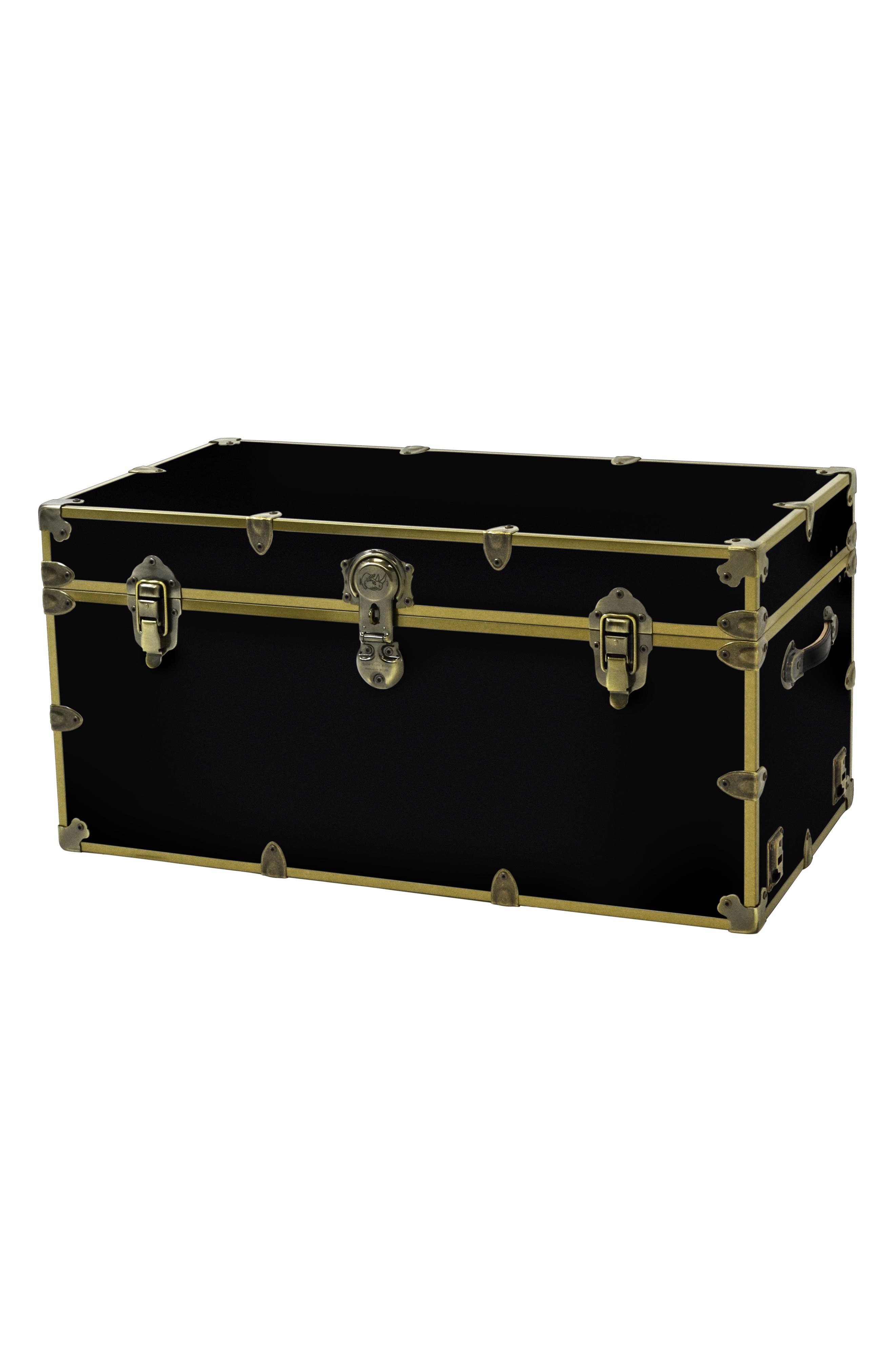 Rhino Trunk  Case Xxl Brass Armor Trunk Size One Size  Black