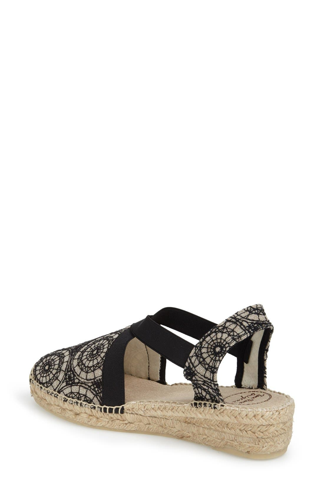 'Vera' Slingback Espadrille Sandal,                             Alternate thumbnail 4, color,                             001