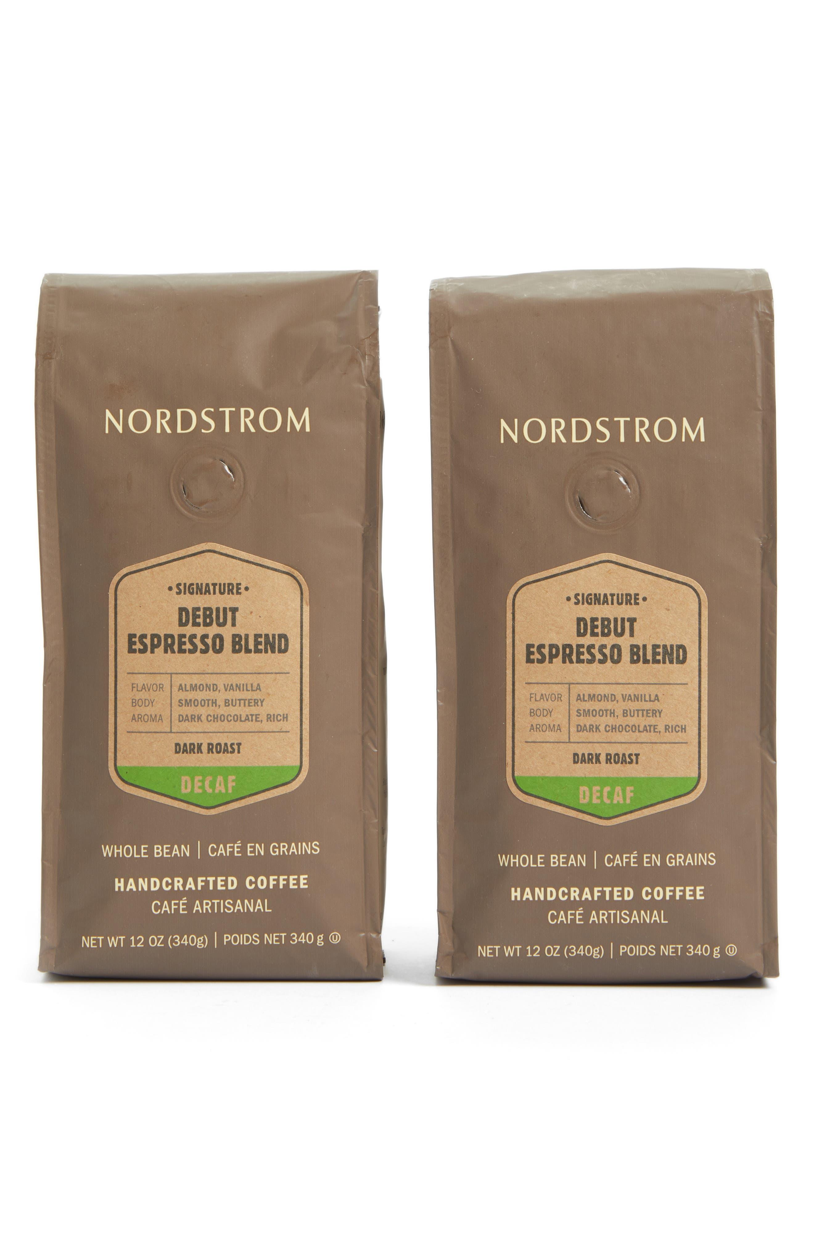 Coffee 'Debut Espresso Blend - Decaf' Whole Bean Coffee,                         Main,                         color, BEIGE/ KHAKI