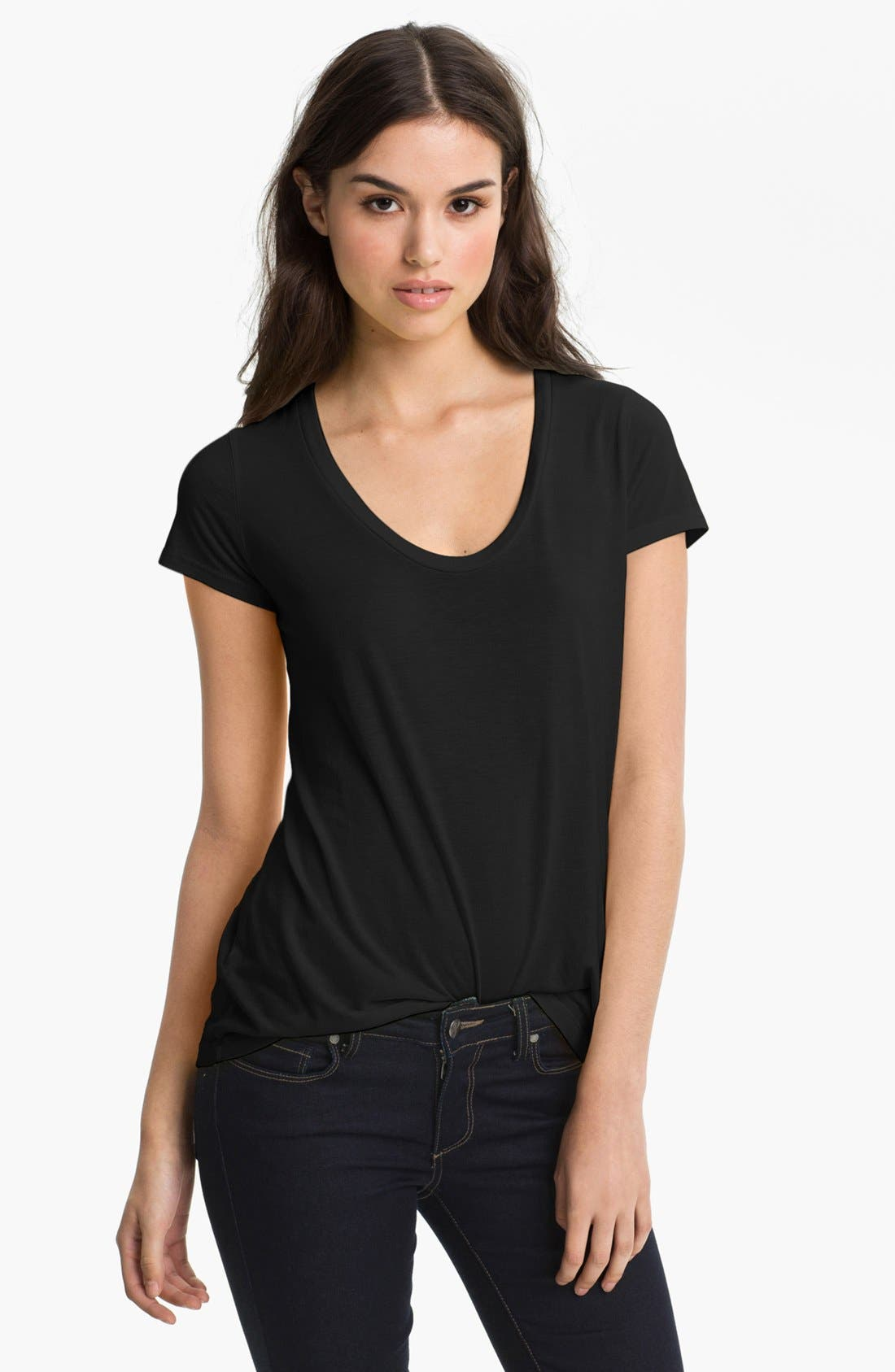 Scoop Neck Tee,                             Main thumbnail 1, color,                             001