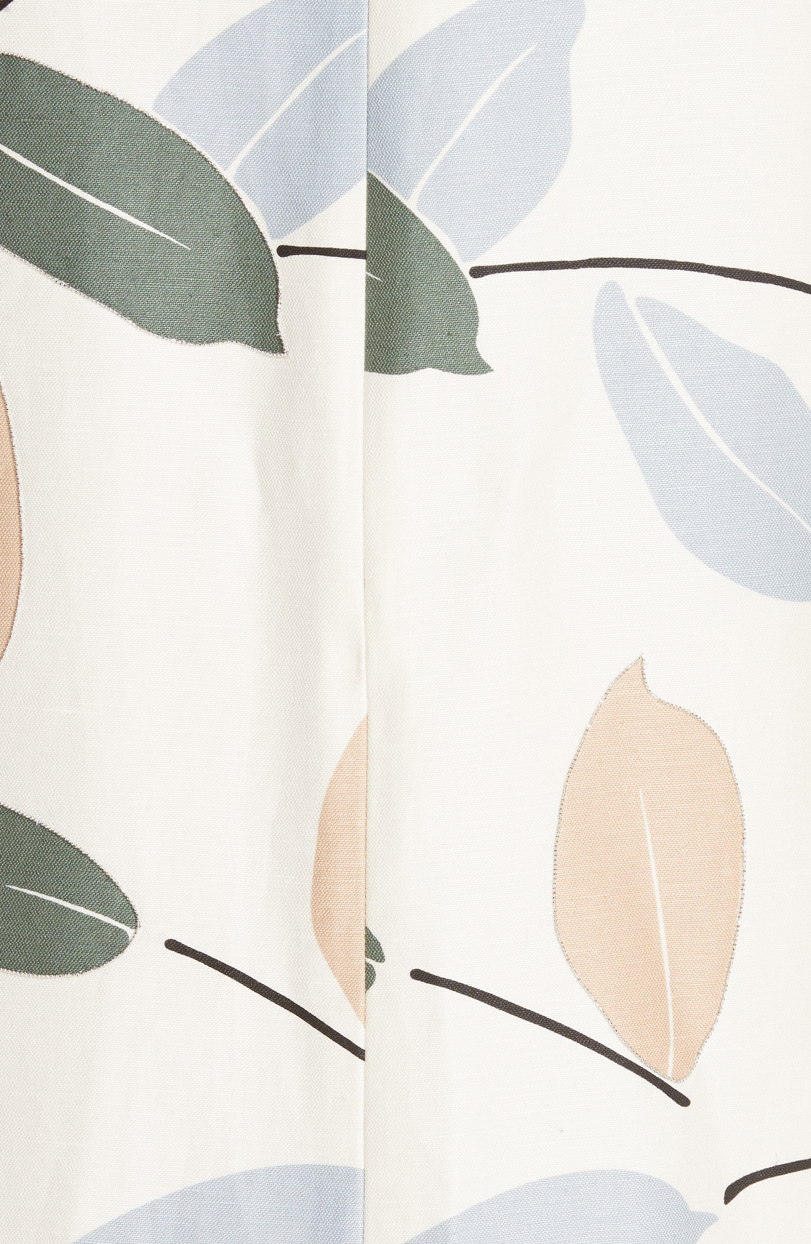 Hana Linen & Cotton Shift Dress,                             Alternate thumbnail 5, color,                             RAFFIA MULTI