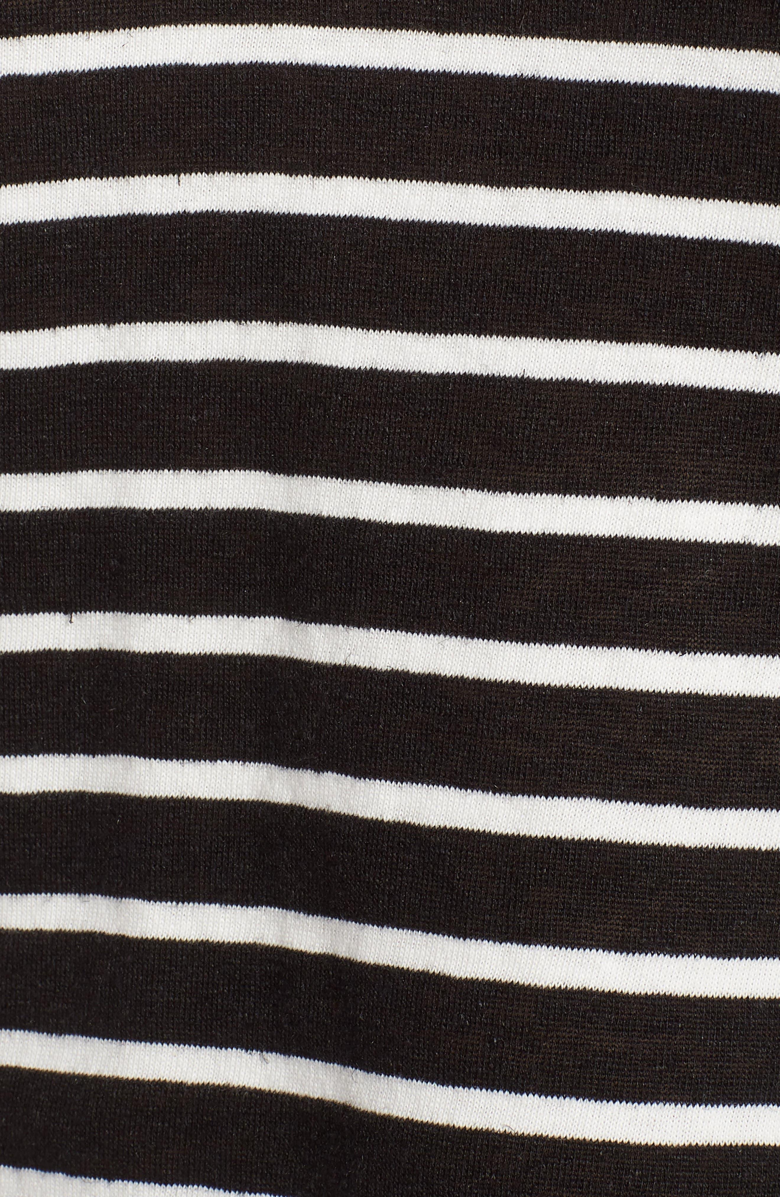 Stripe V-Neck Tee,                             Alternate thumbnail 5, color,                             001
