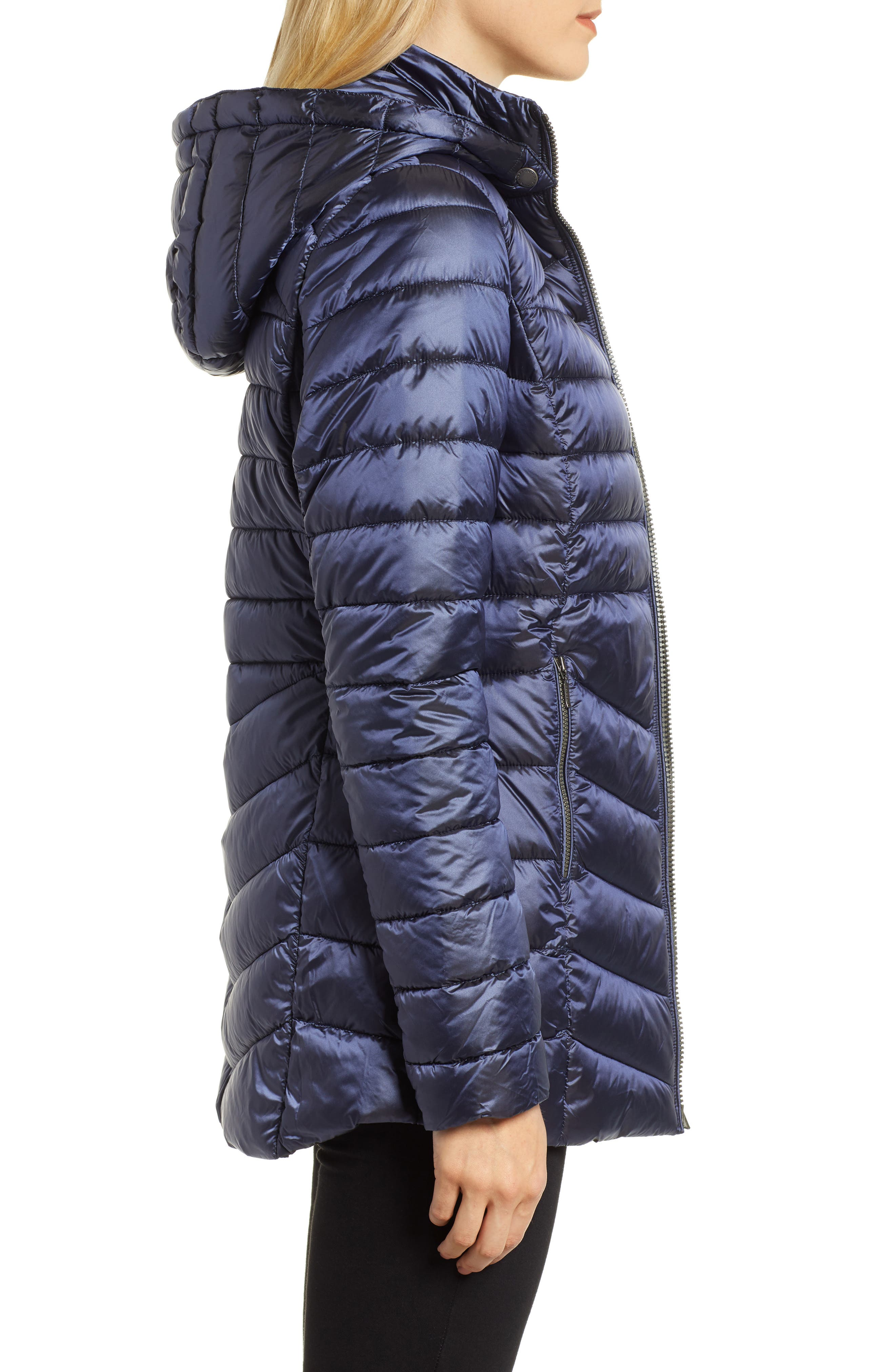 Ailith Quilted Jacket,                             Alternate thumbnail 3, color,                             ROYAL NAVY
