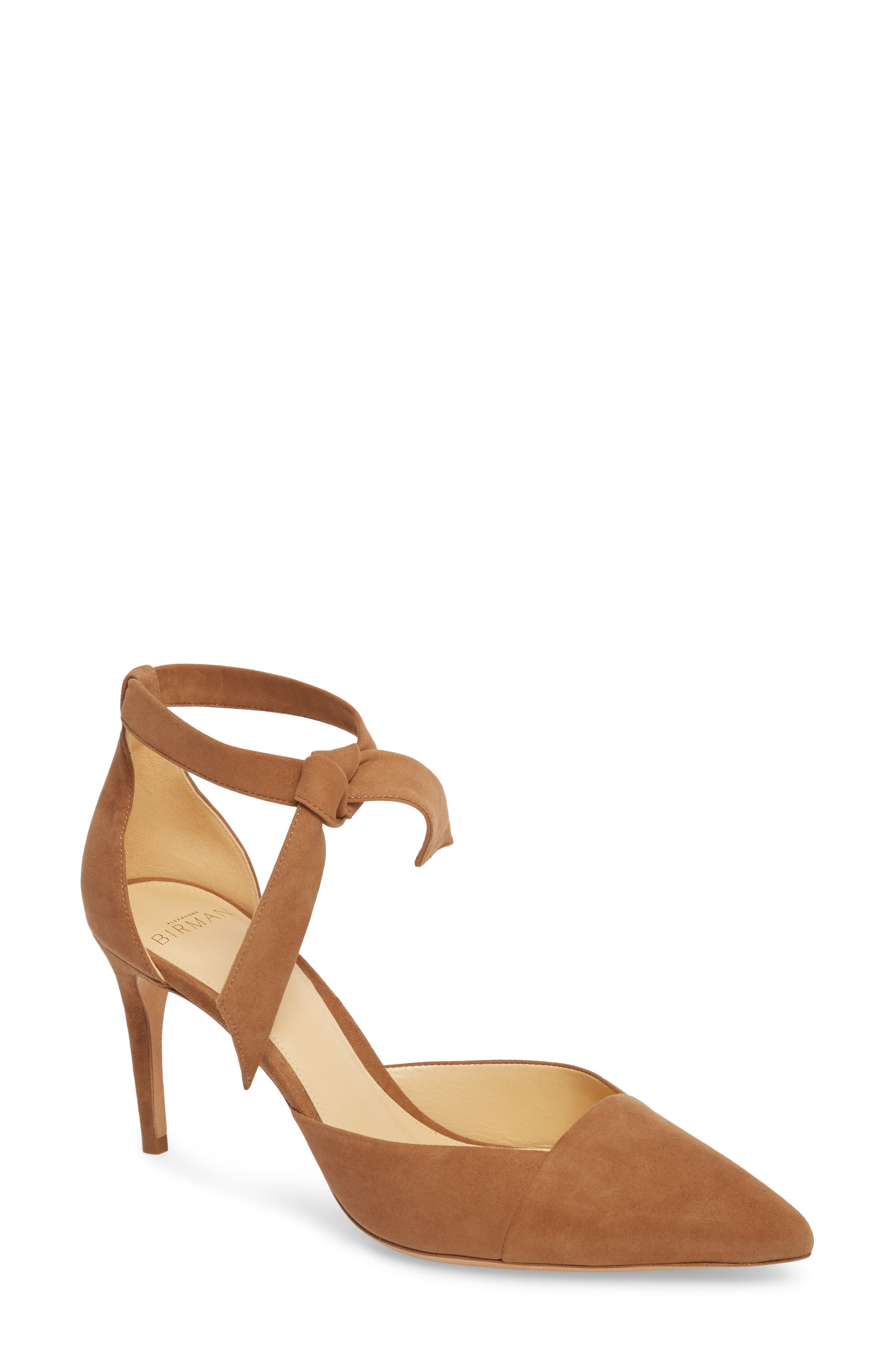 Azalea Tie Strap Pump,                             Main thumbnail 1, color,                             LIGHT BEIGE
