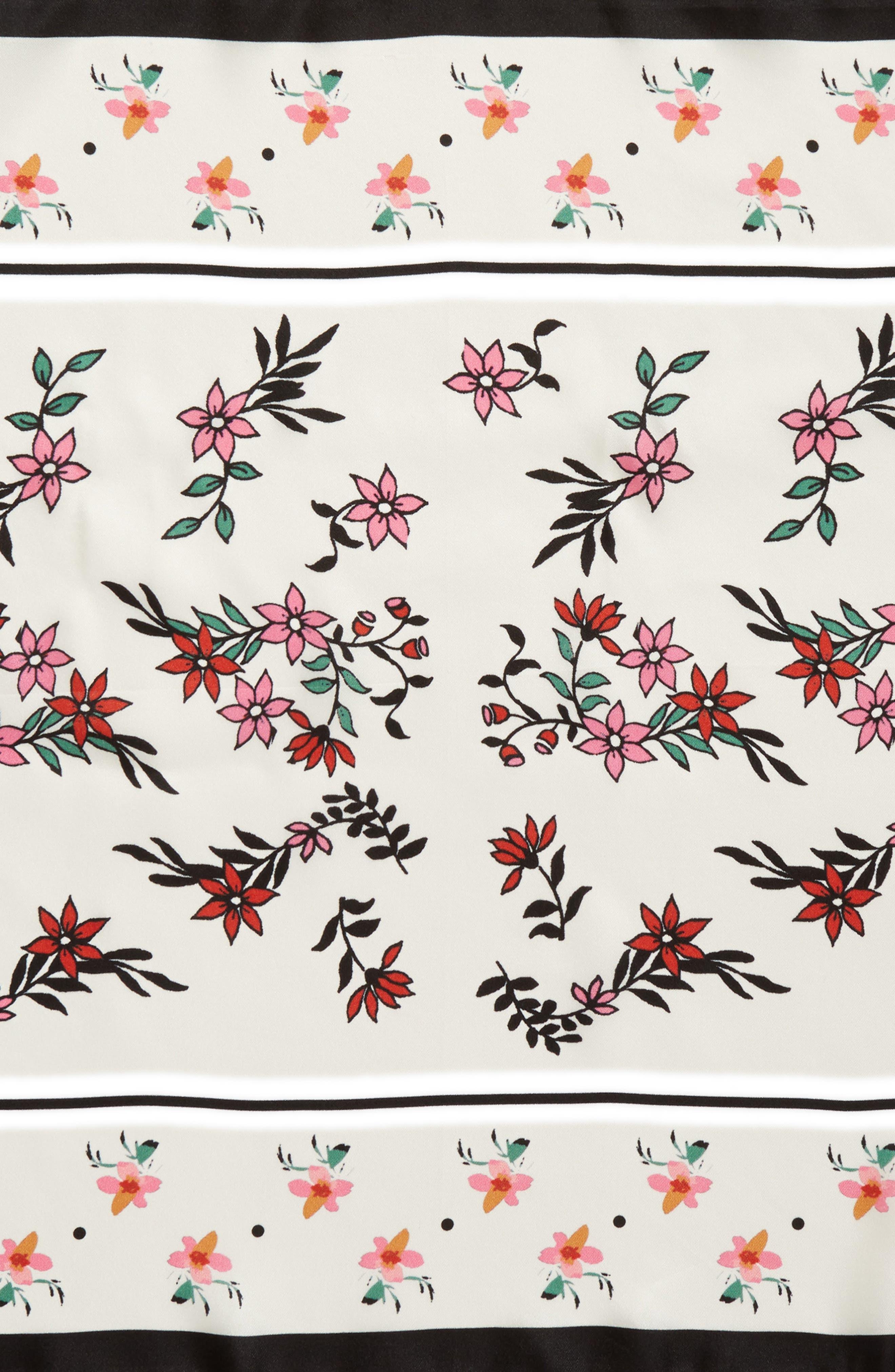 Twilight Floral Silk Bandana,                             Alternate thumbnail 4, color,                             100