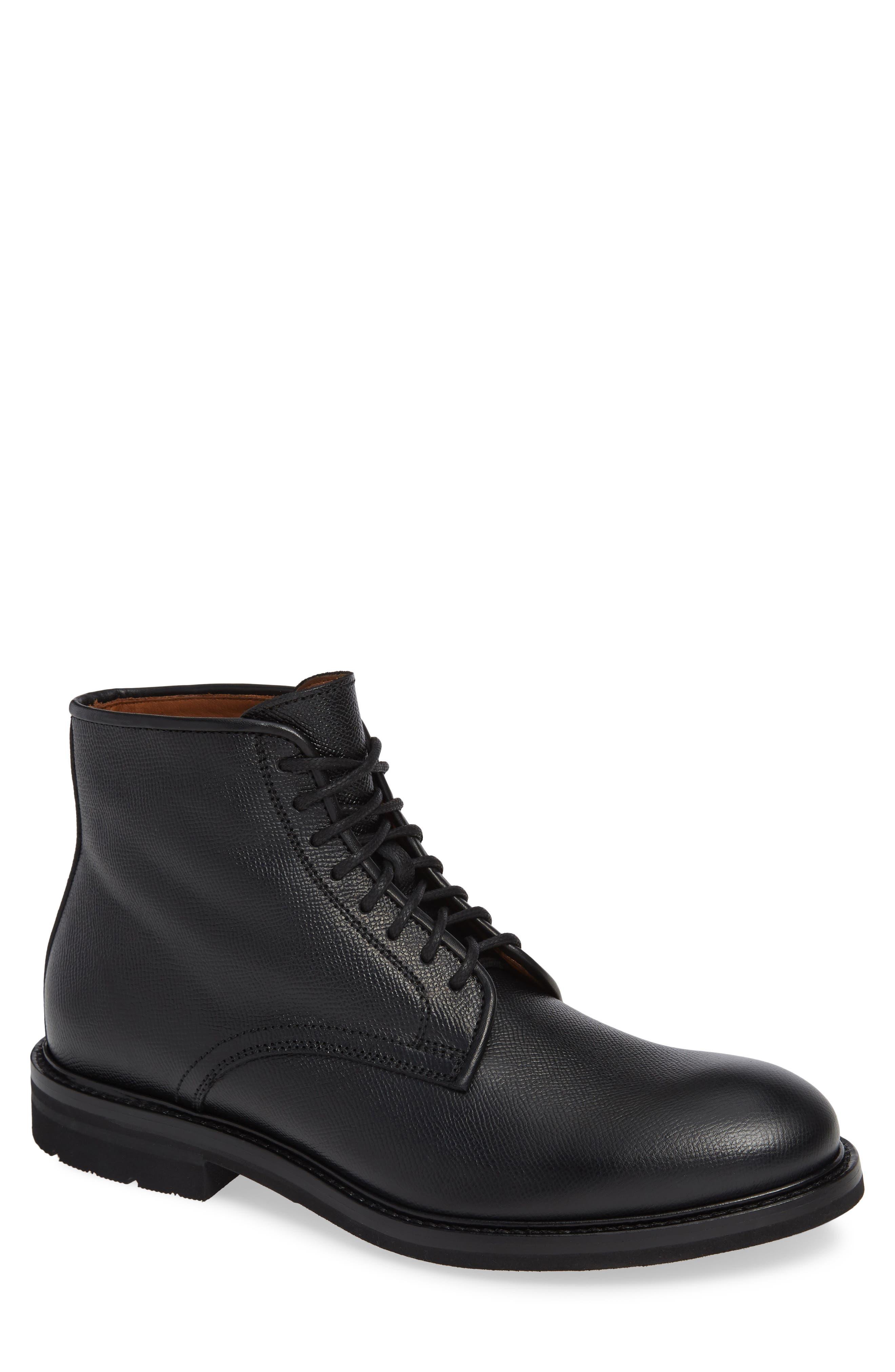 Renzo Weatherproof Plain Toe Waterproof Boot,                             Main thumbnail 1, color,                             BLACK