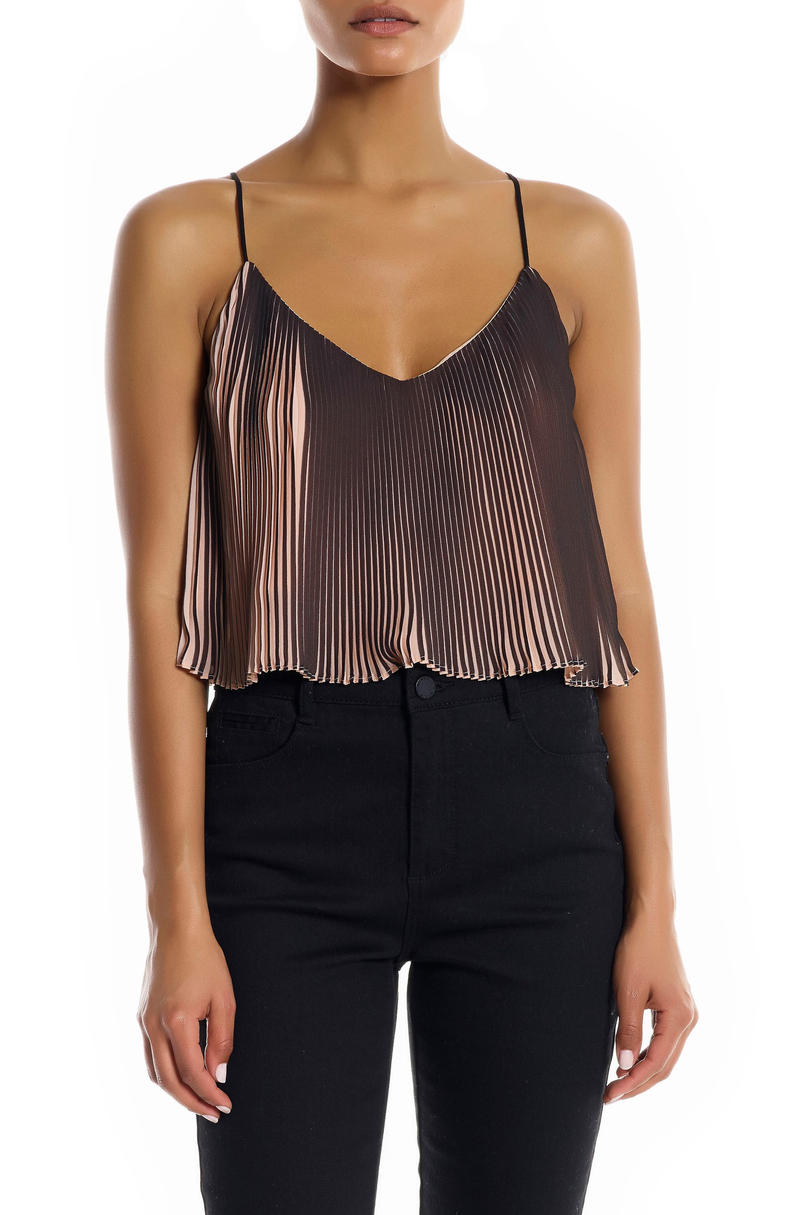 Pleated Crop Camisole,                             Main thumbnail 1, color,                             250