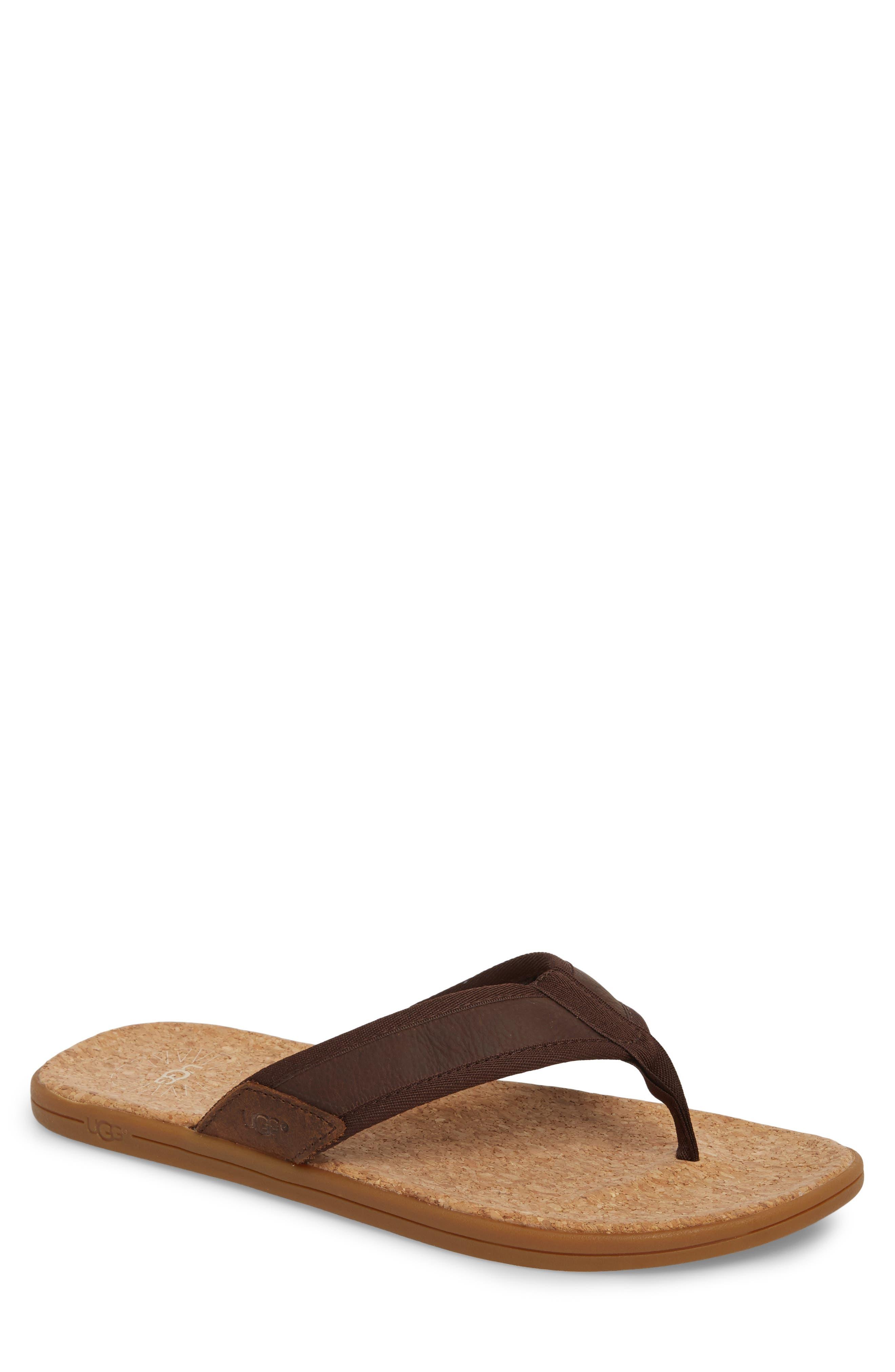 UGG<SUP>®</SUP> Seaside Flip Flop, Main, color, CHESTNUT