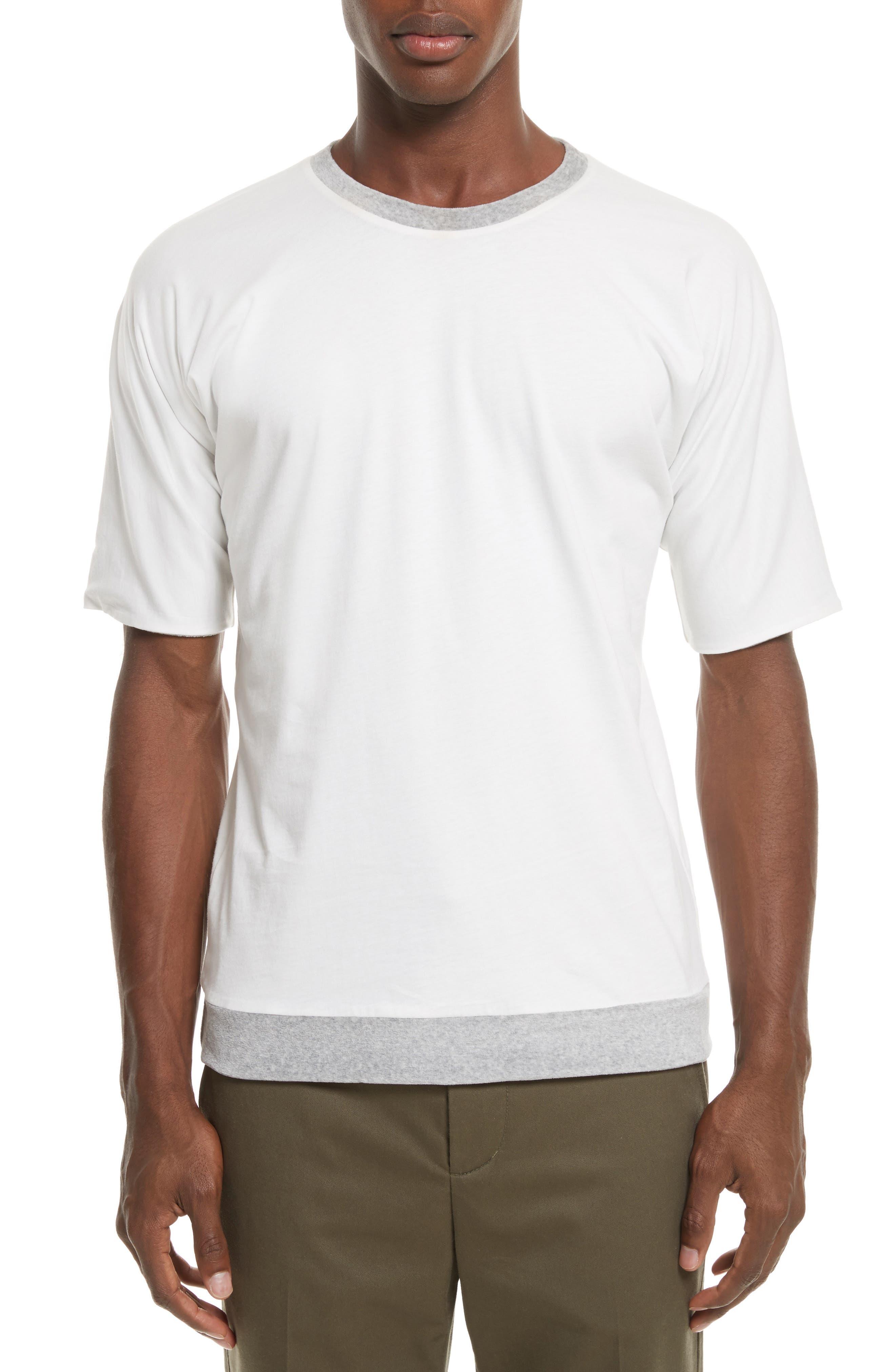 Reversible Double Layer T-Shirt,                             Alternate thumbnail 2, color,                             LIGHT GREY