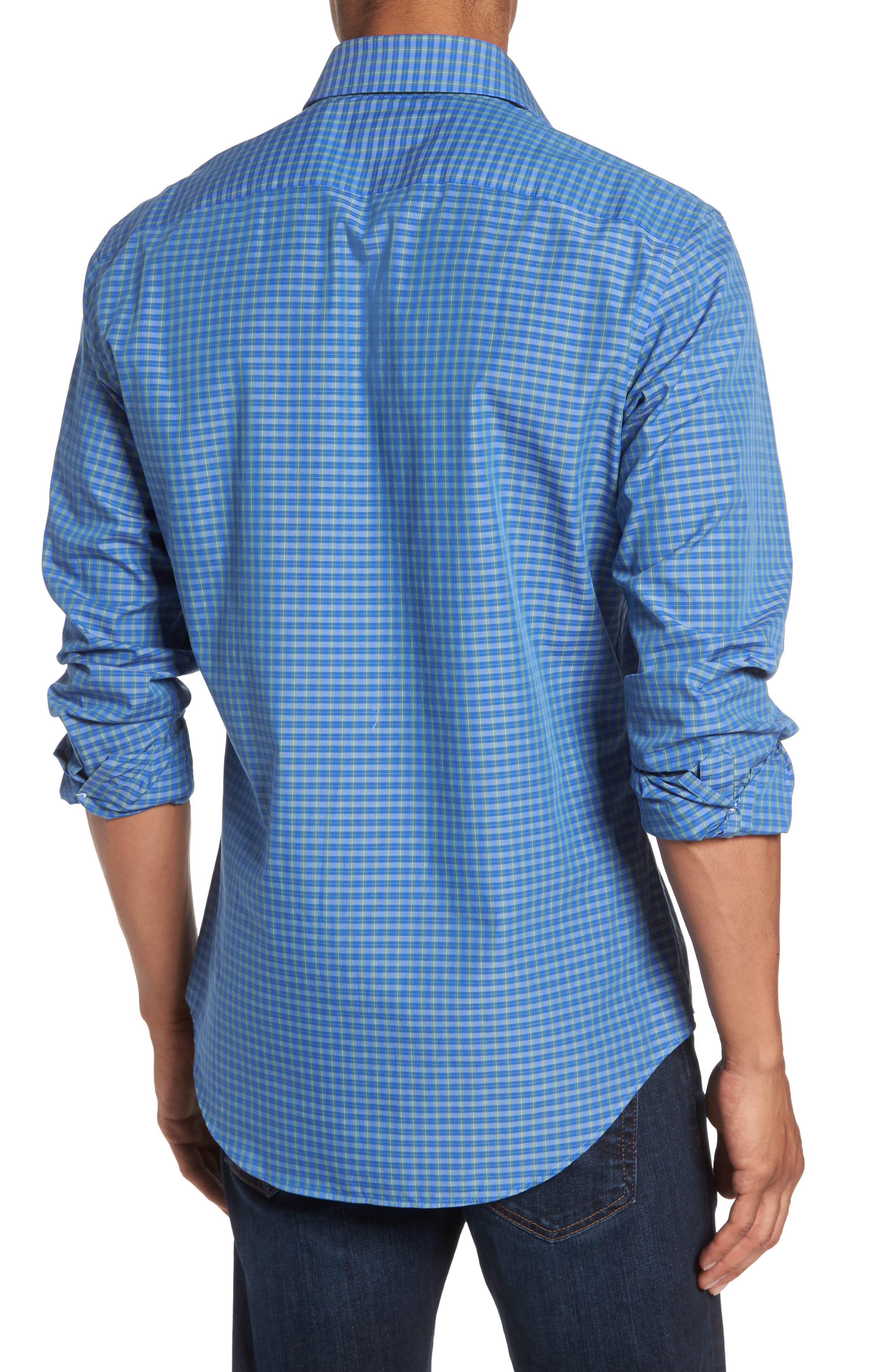 Alden Slim Fit Plaid Sport Shirt,                             Alternate thumbnail 2, color,                             306