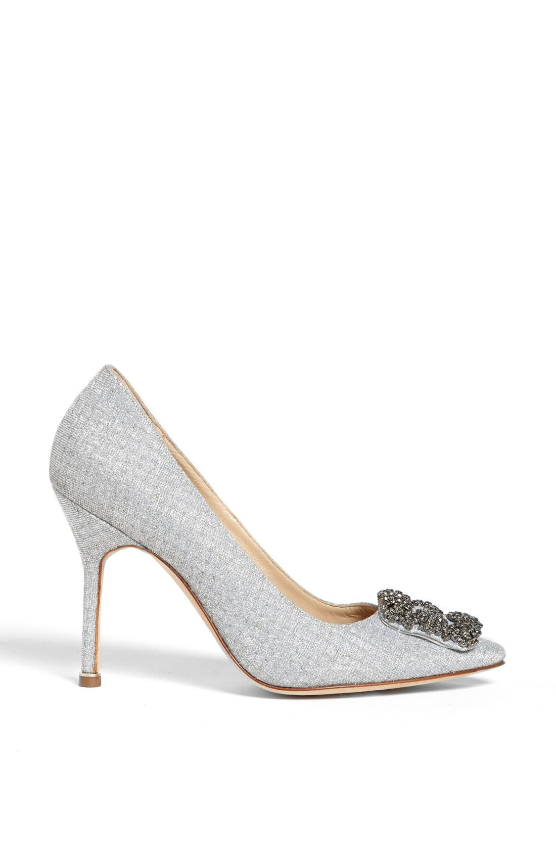 'Hangisi' Jeweled Pump,                             Alternate thumbnail 4, color,                             SILVER