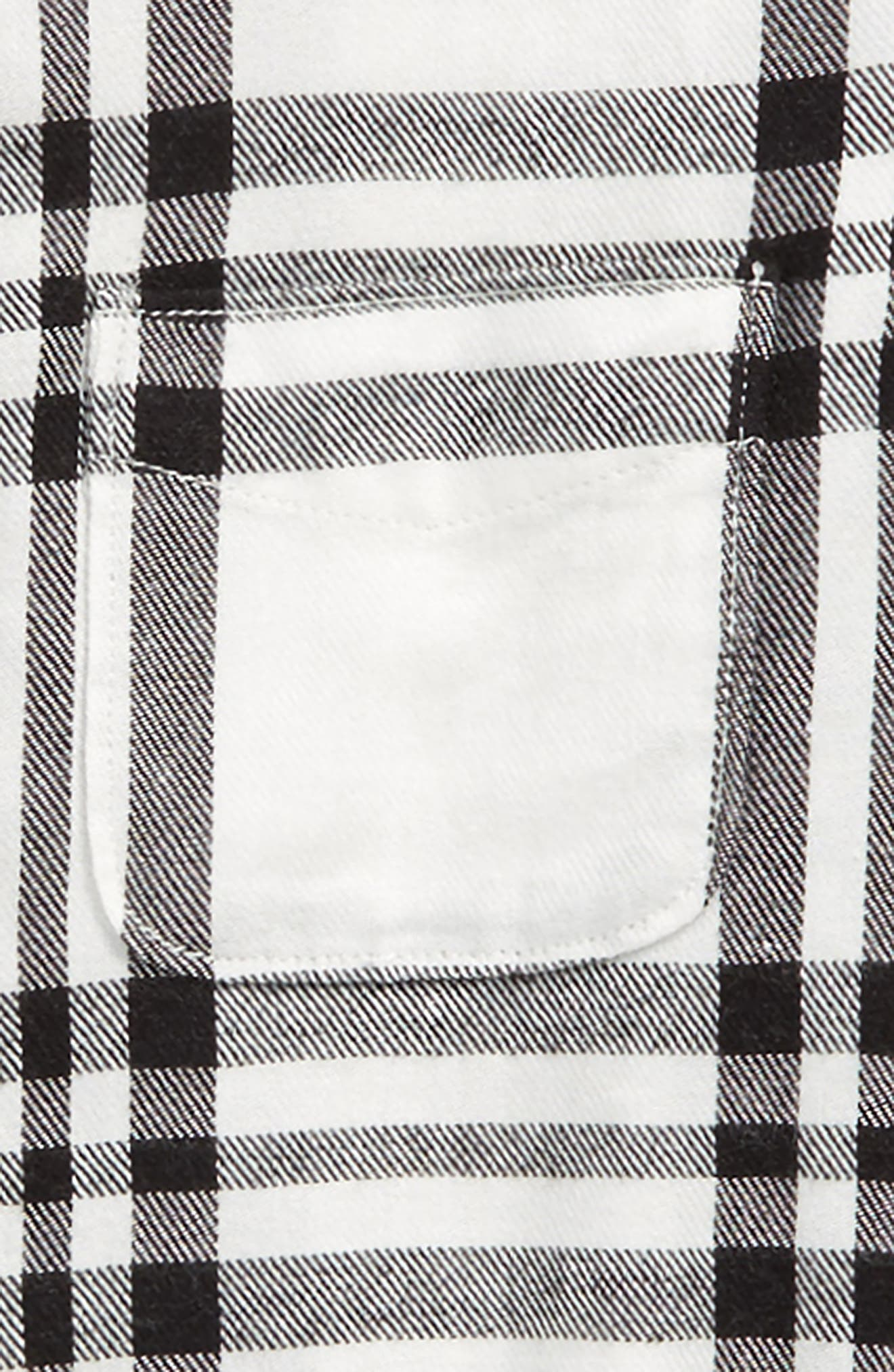 Jaspe Plaid Flannel Shirt,                             Alternate thumbnail 2, color,                             BLACK RAVEN BULLSEYE PLAID