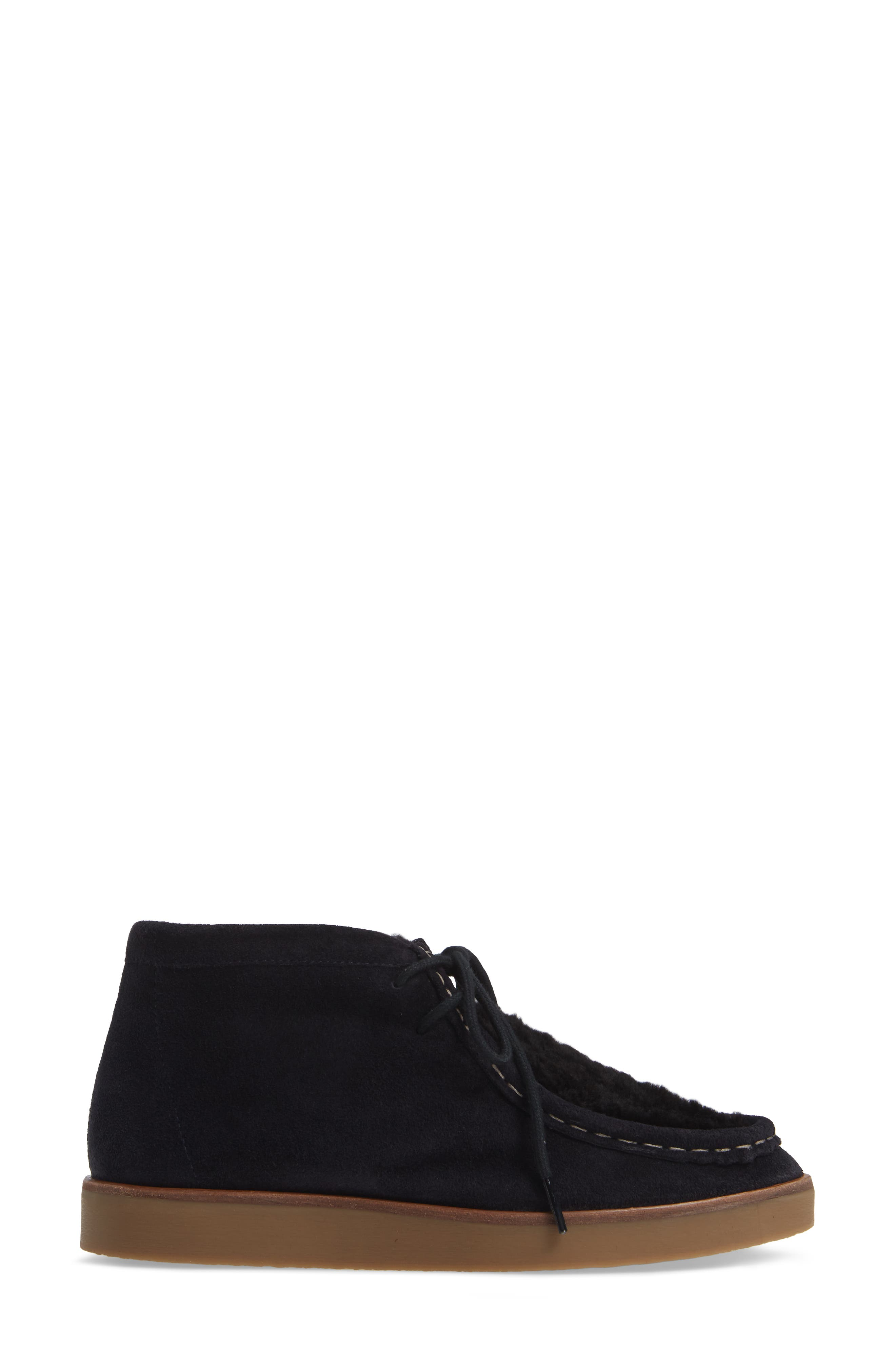 The Trooper Genuine Shearling Lined Shoe,                             Alternate thumbnail 3, color,                             MIDNIGHT/ BLACK SHEARLING