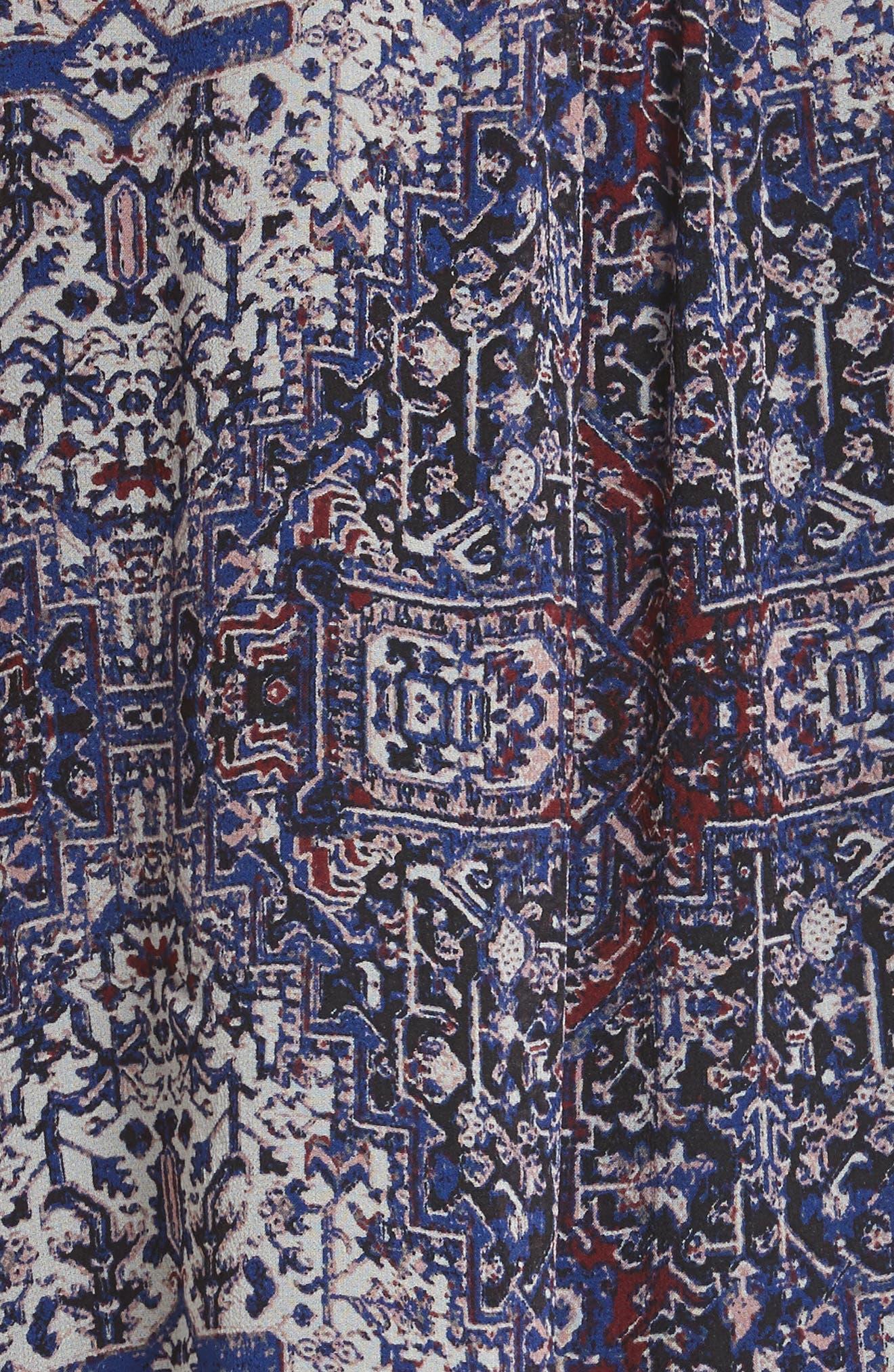 Hadiya Print Silk Dress,                             Alternate thumbnail 5, color,